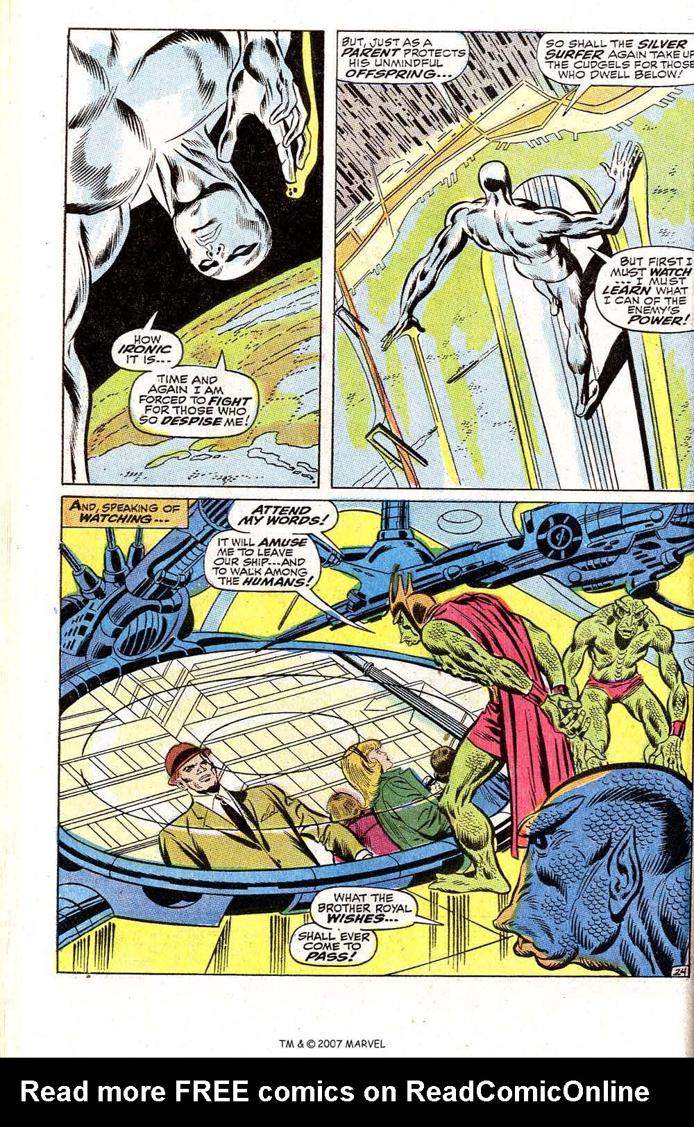 Read online Silver Surfer (1968) comic -  Issue #2 - 32