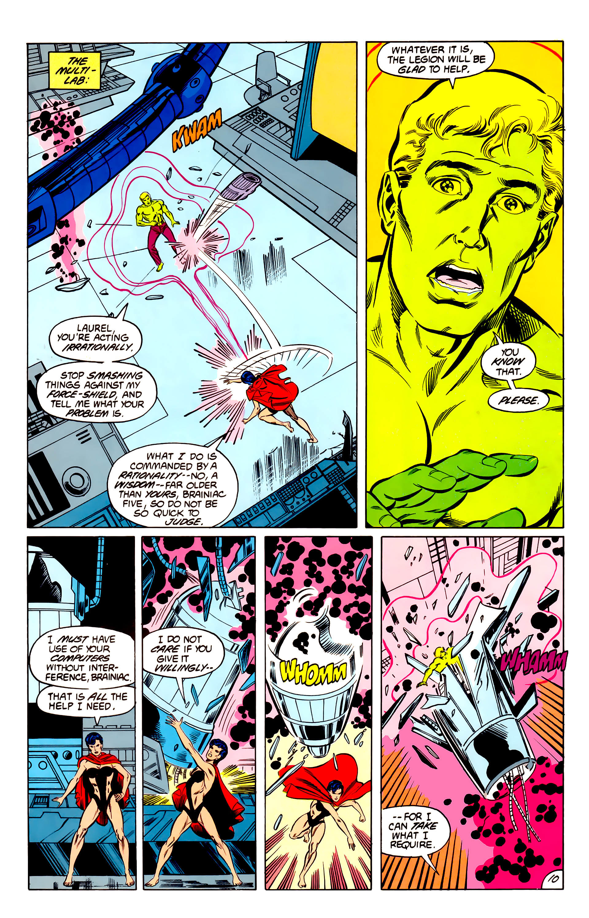 Legion of Super-Heroes (1984) 42 Page 10