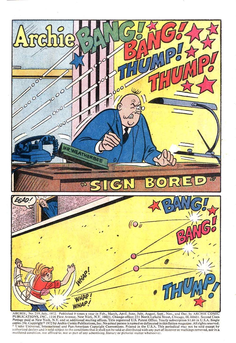 Read online Archie (1960) comic -  Issue #219 - 3