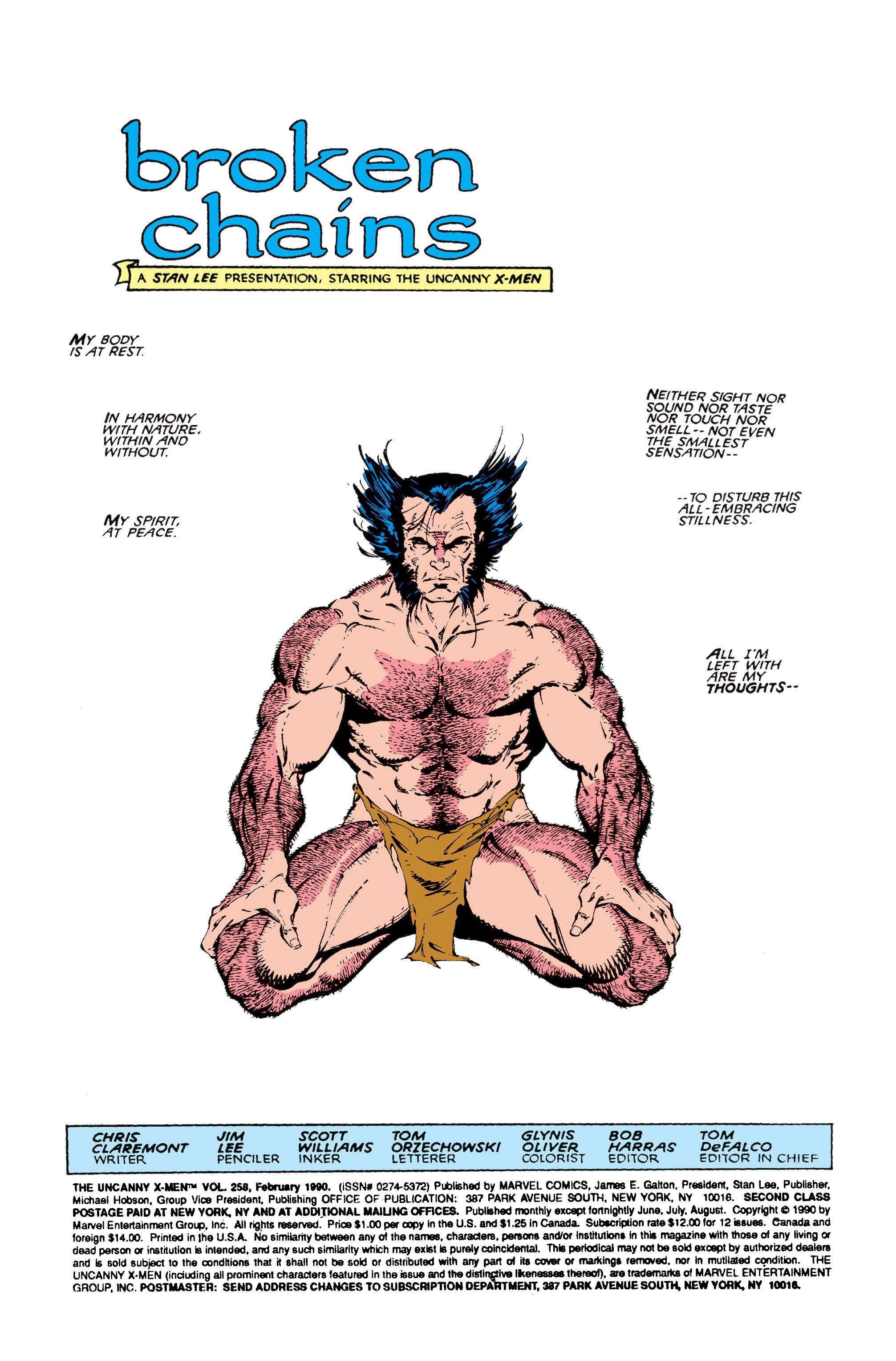 Read online Uncanny X-Men (1963) comic -  Issue #258 - 2