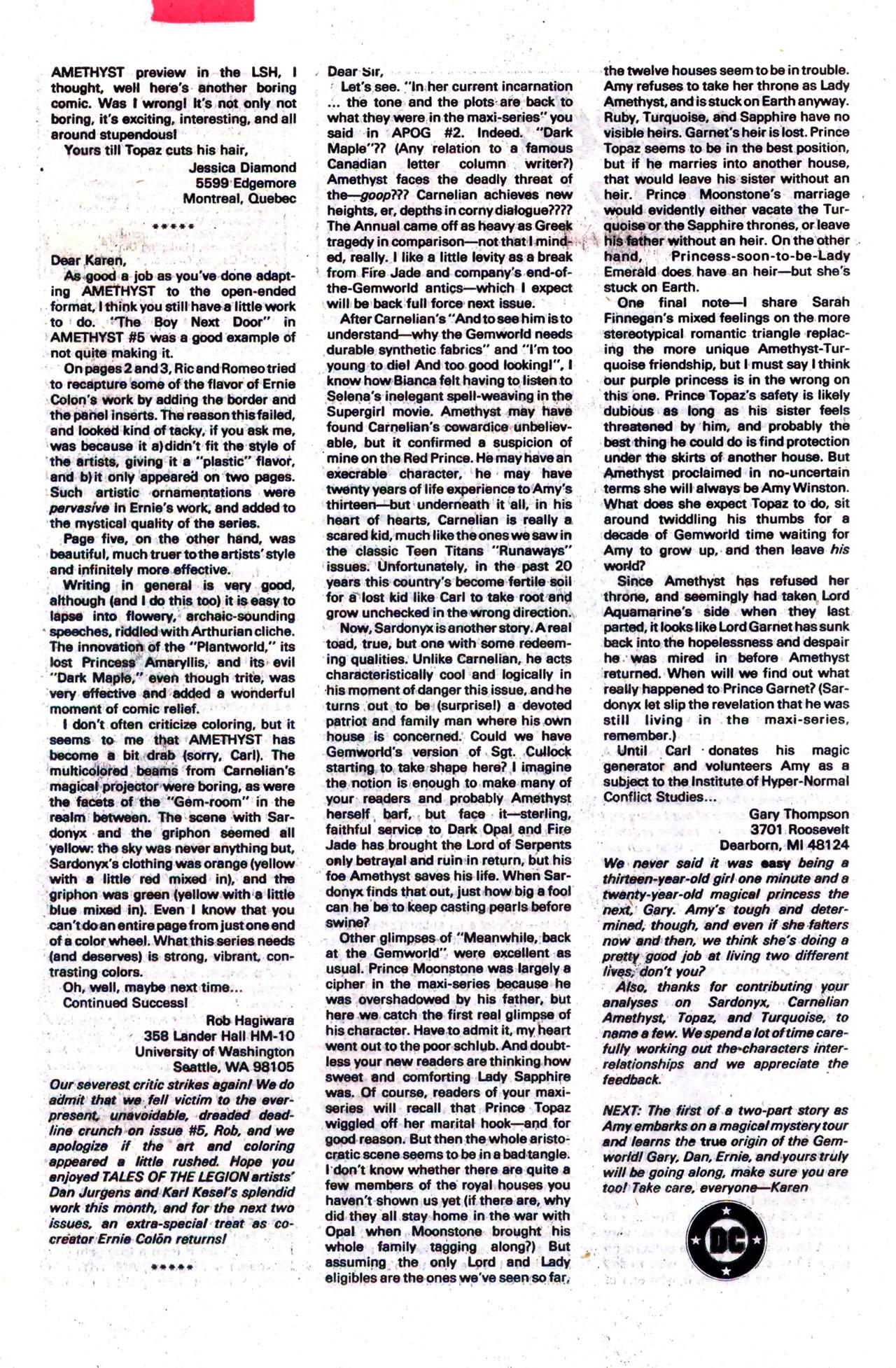 Read online Amethyst (1985) comic -  Issue #8 - 25