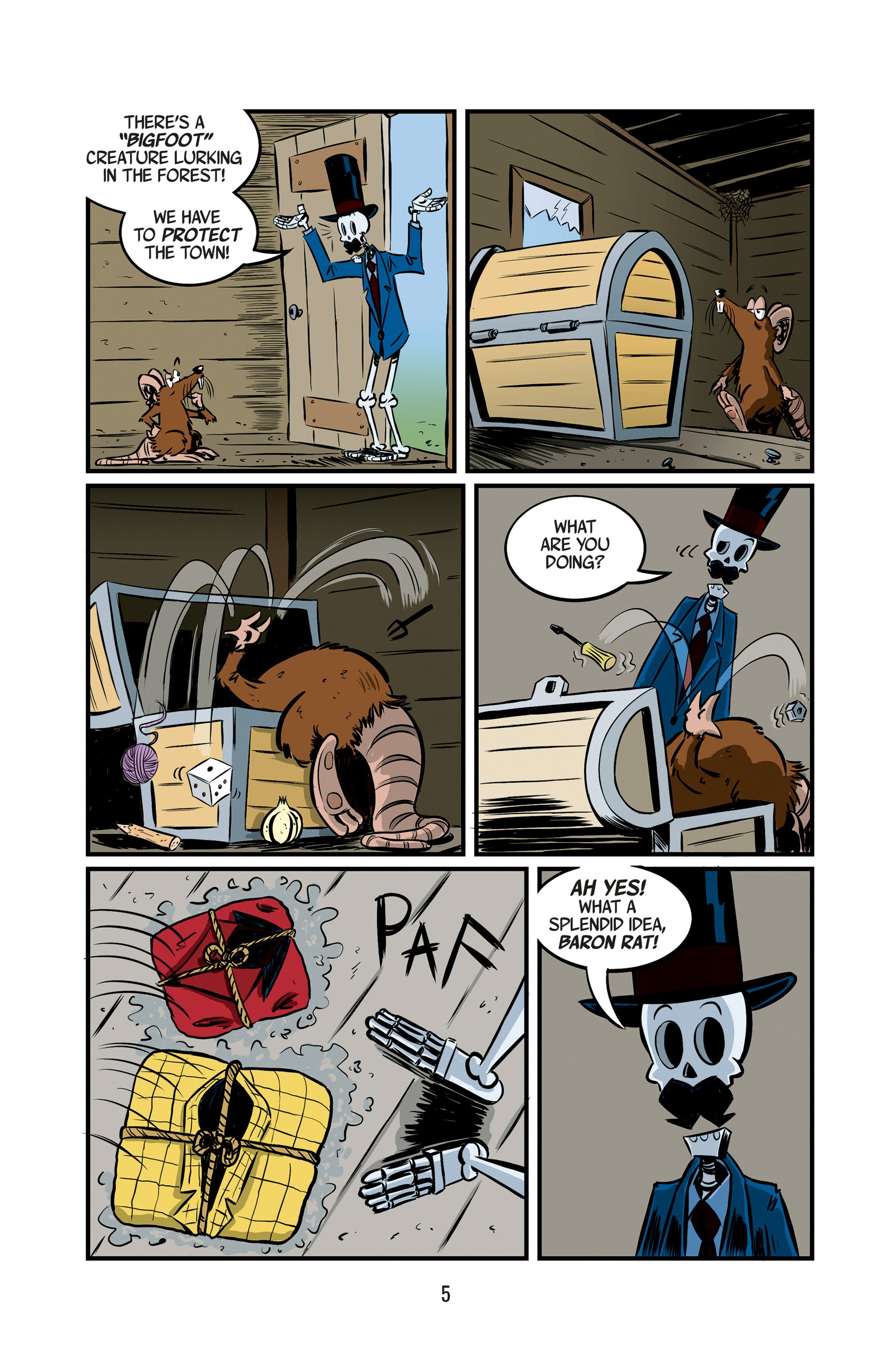 Read online The Adventures of Mr. Crypt and Baron Rat comic -  Issue #1 - 6