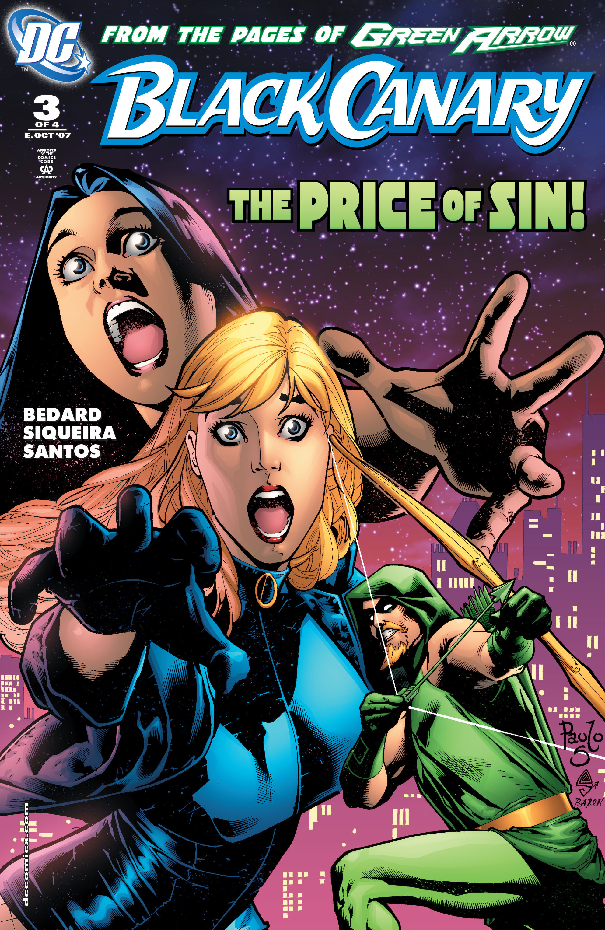 Read online Black Canary (2007) comic -  Issue #3 - 1