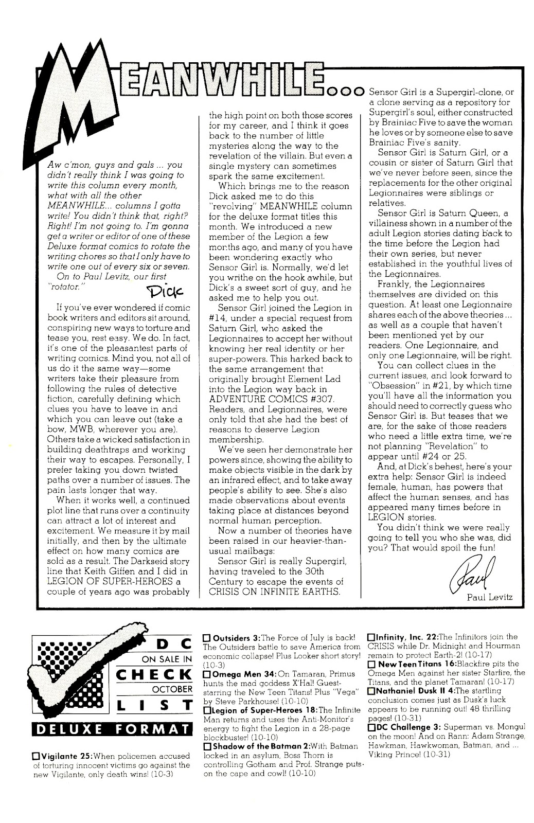 Infinity Inc. (1984) issue 22 - Page 2