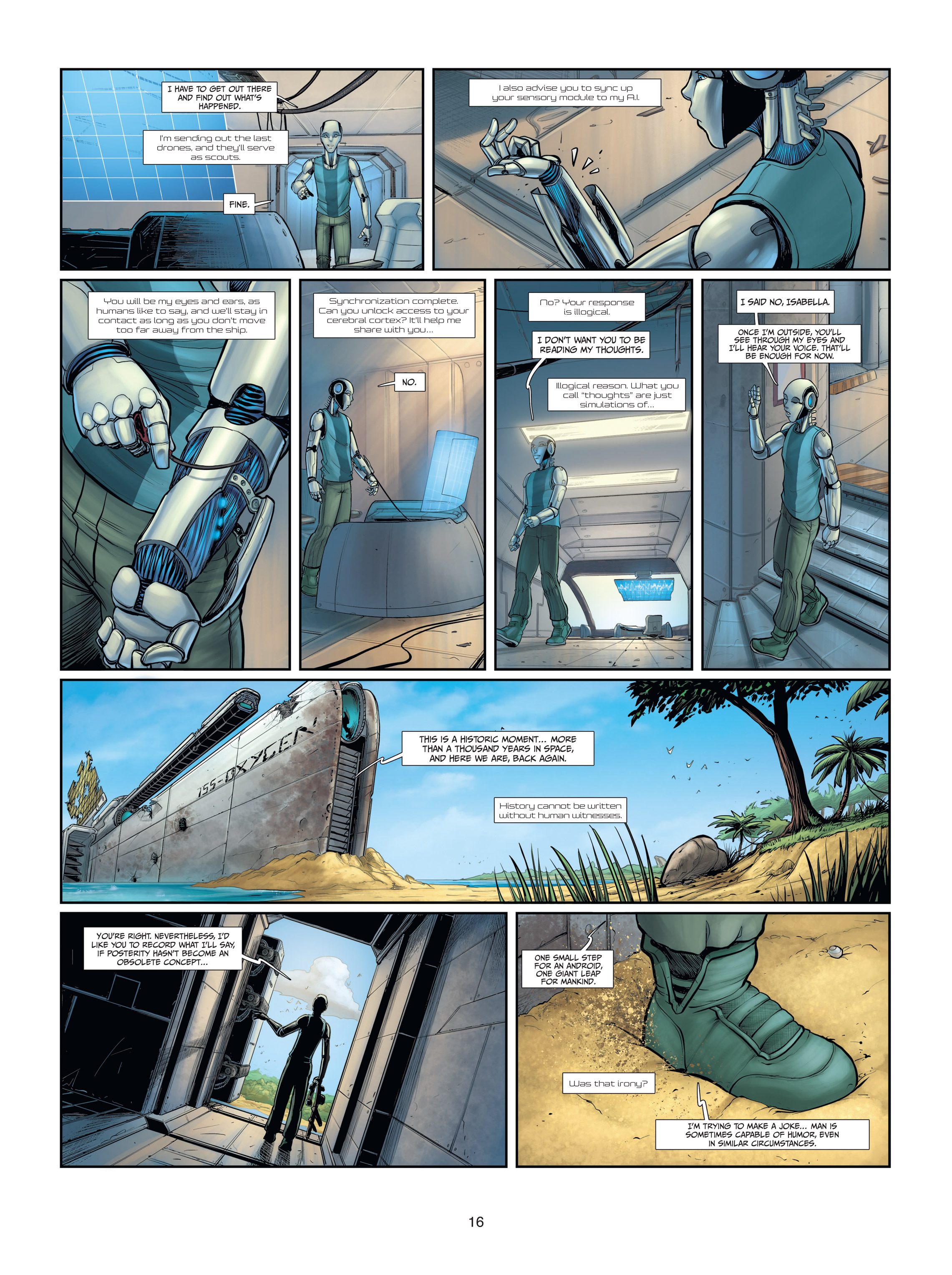 Read online Androïds comic -  Issue #2 - 16