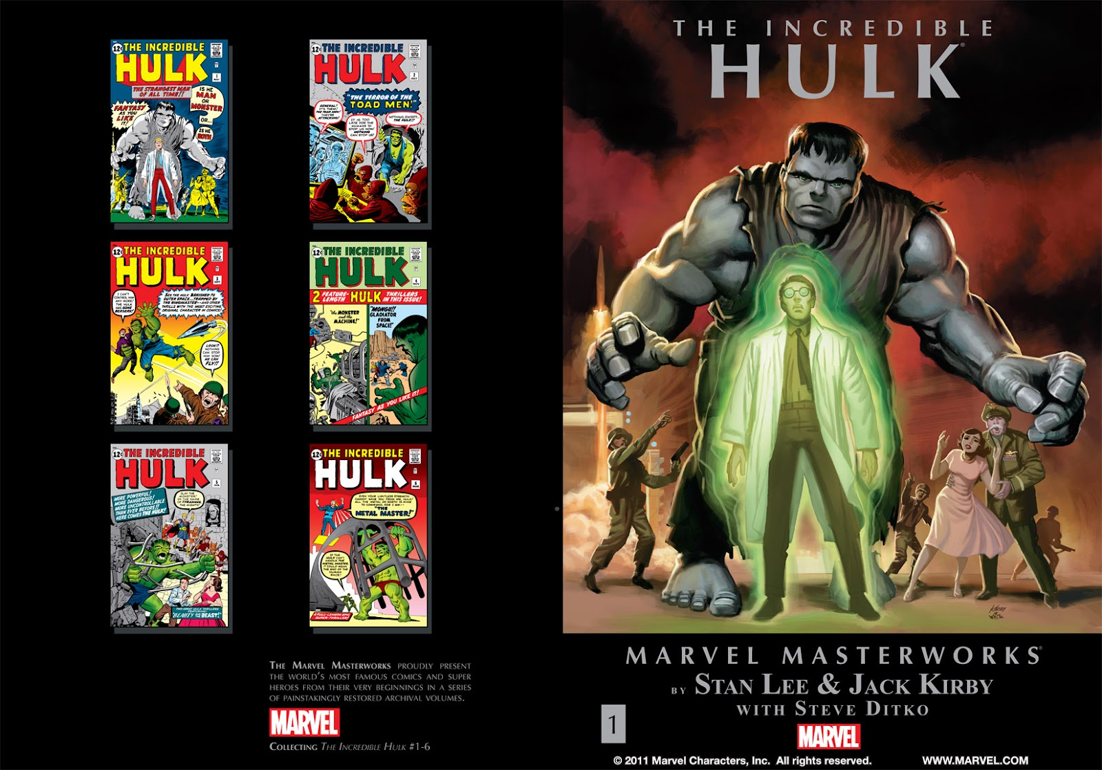 Read online Marvel Masterworks: The Incredible Hulk comic -  Issue # TPB 1 (Part 1) - 2