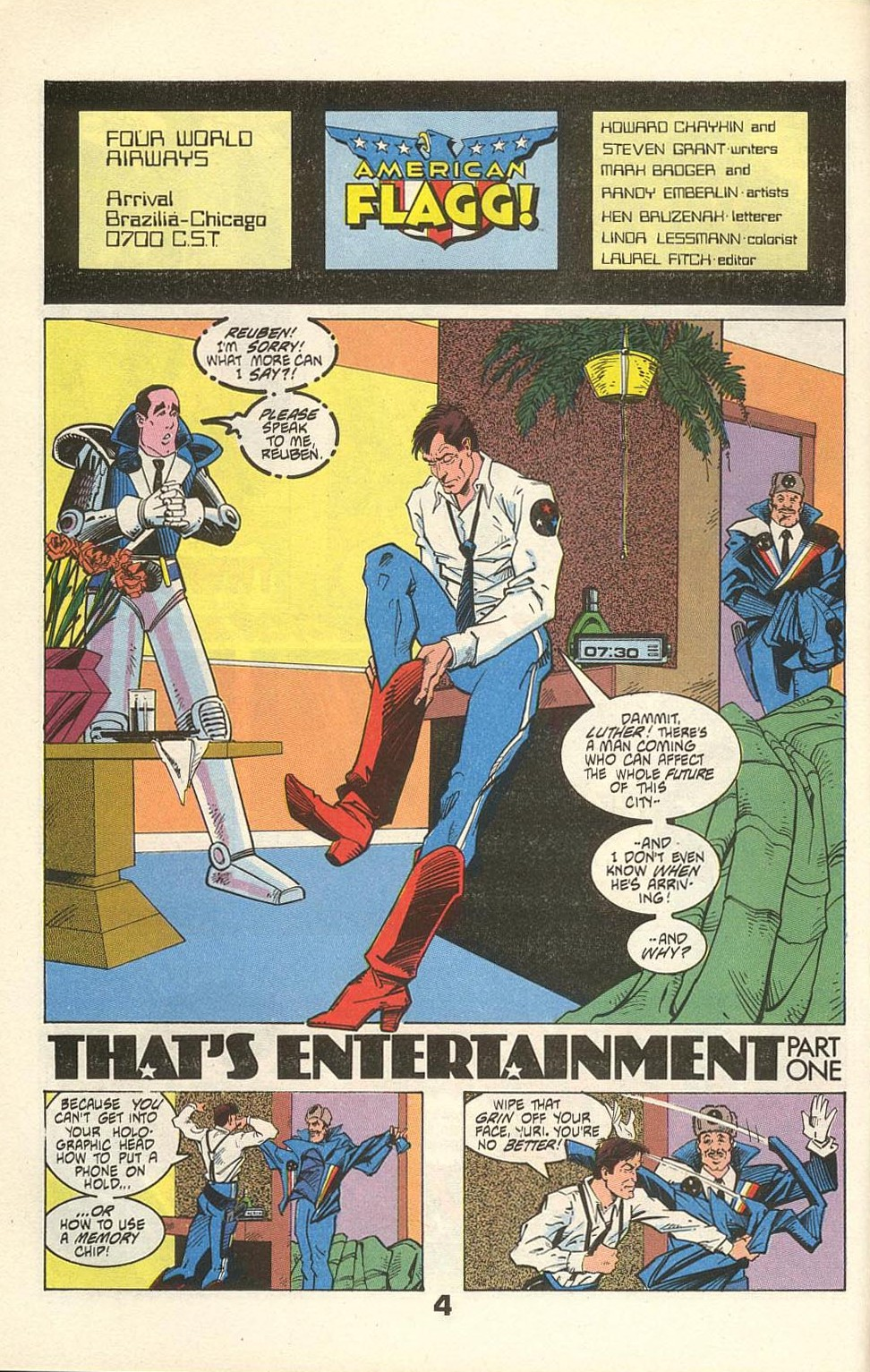 Read online American Flagg! comic -  Issue #31 - 6