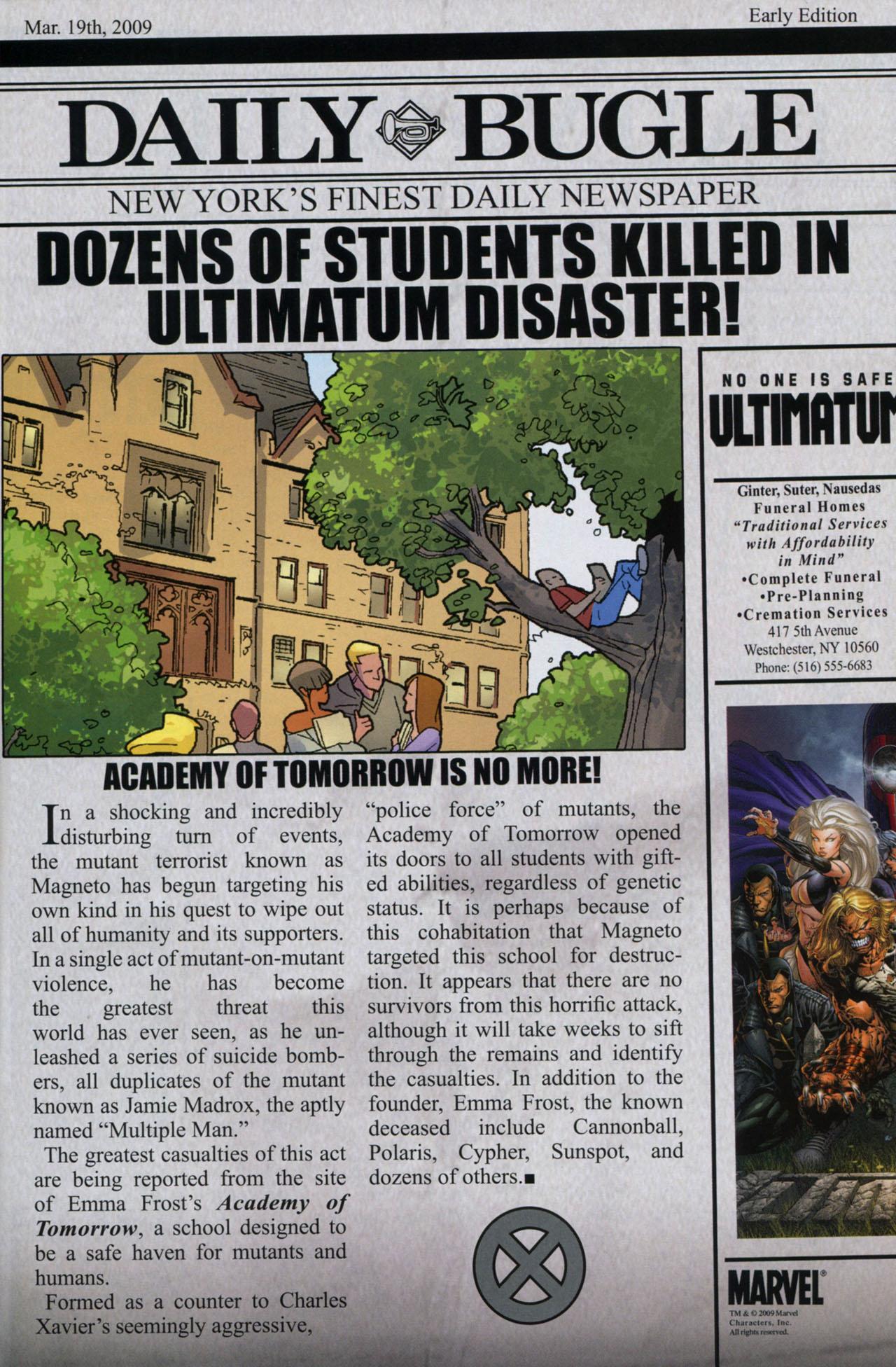 Read online Ultimatum: X-Men Requiem comic -  Issue # Full - 32