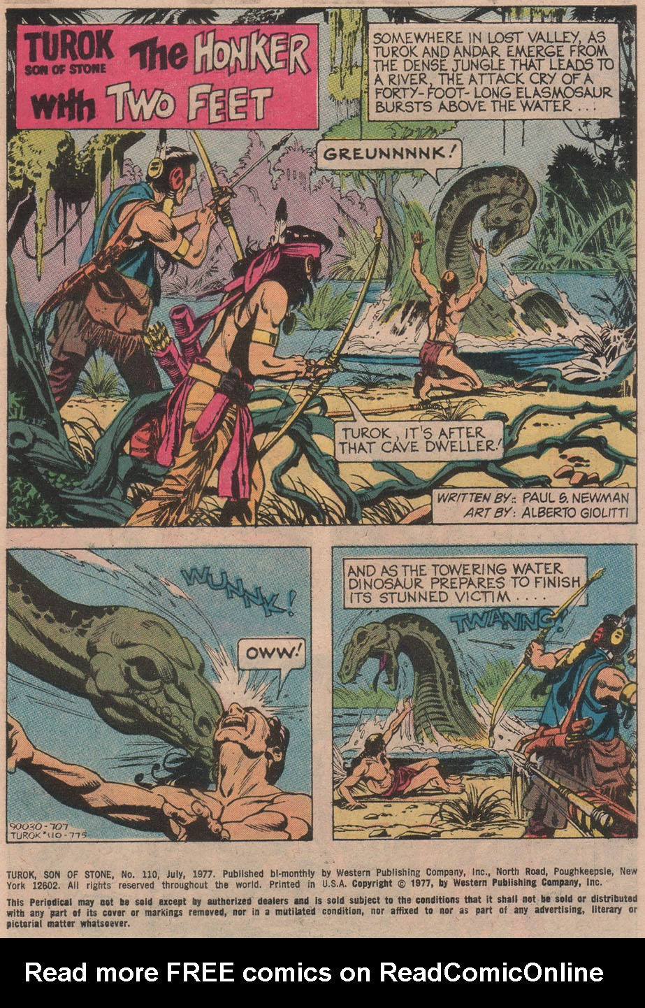 Read online Turok, Son of Stone comic -  Issue #110 - 3
