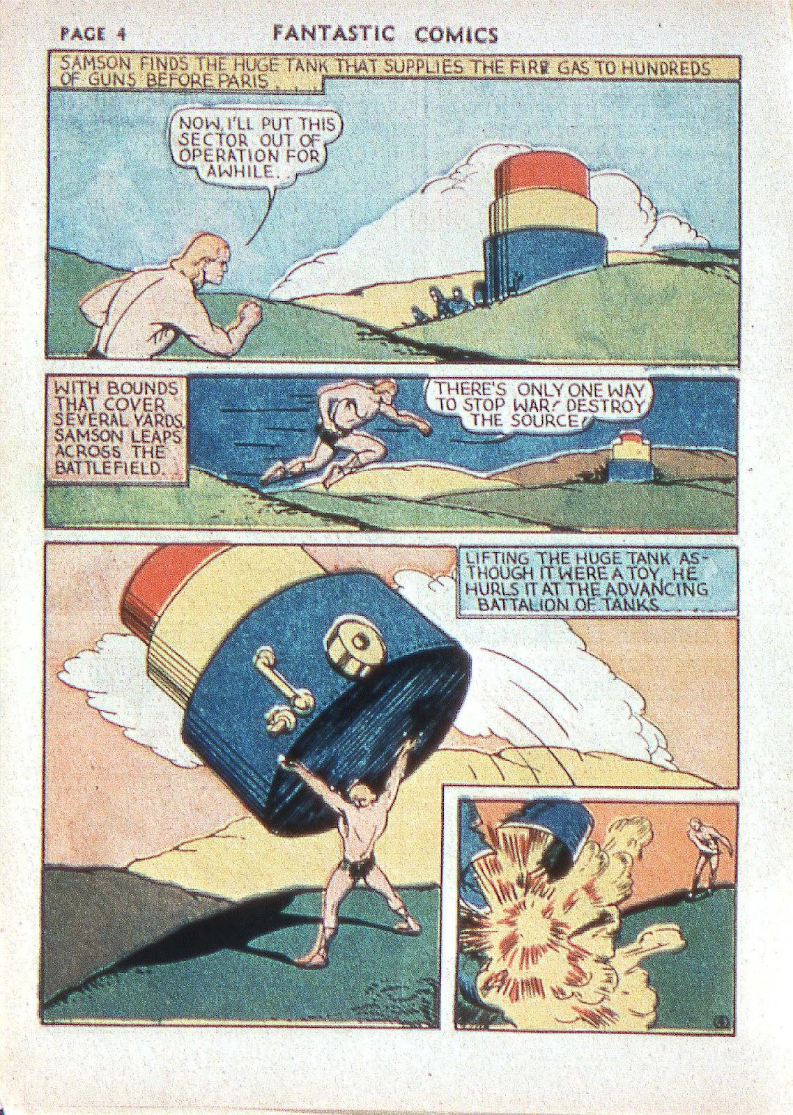 Read online Fantastic Comics comic -  Issue #2 - 6