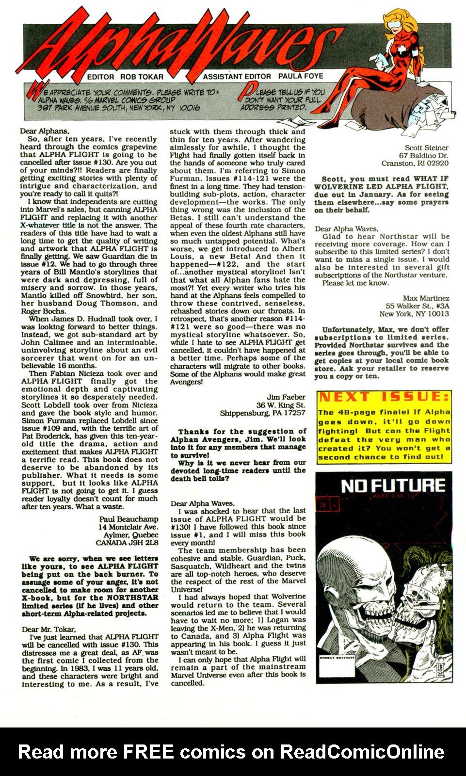 Read online Alpha Flight (1983) comic -  Issue #129 - 24