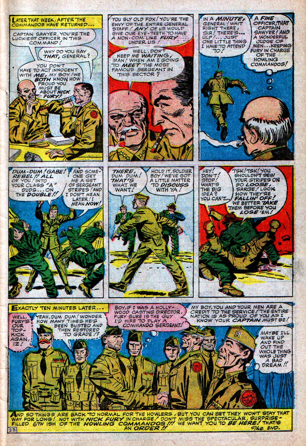 Read online Sgt. Fury comic -  Issue #5 - 31
