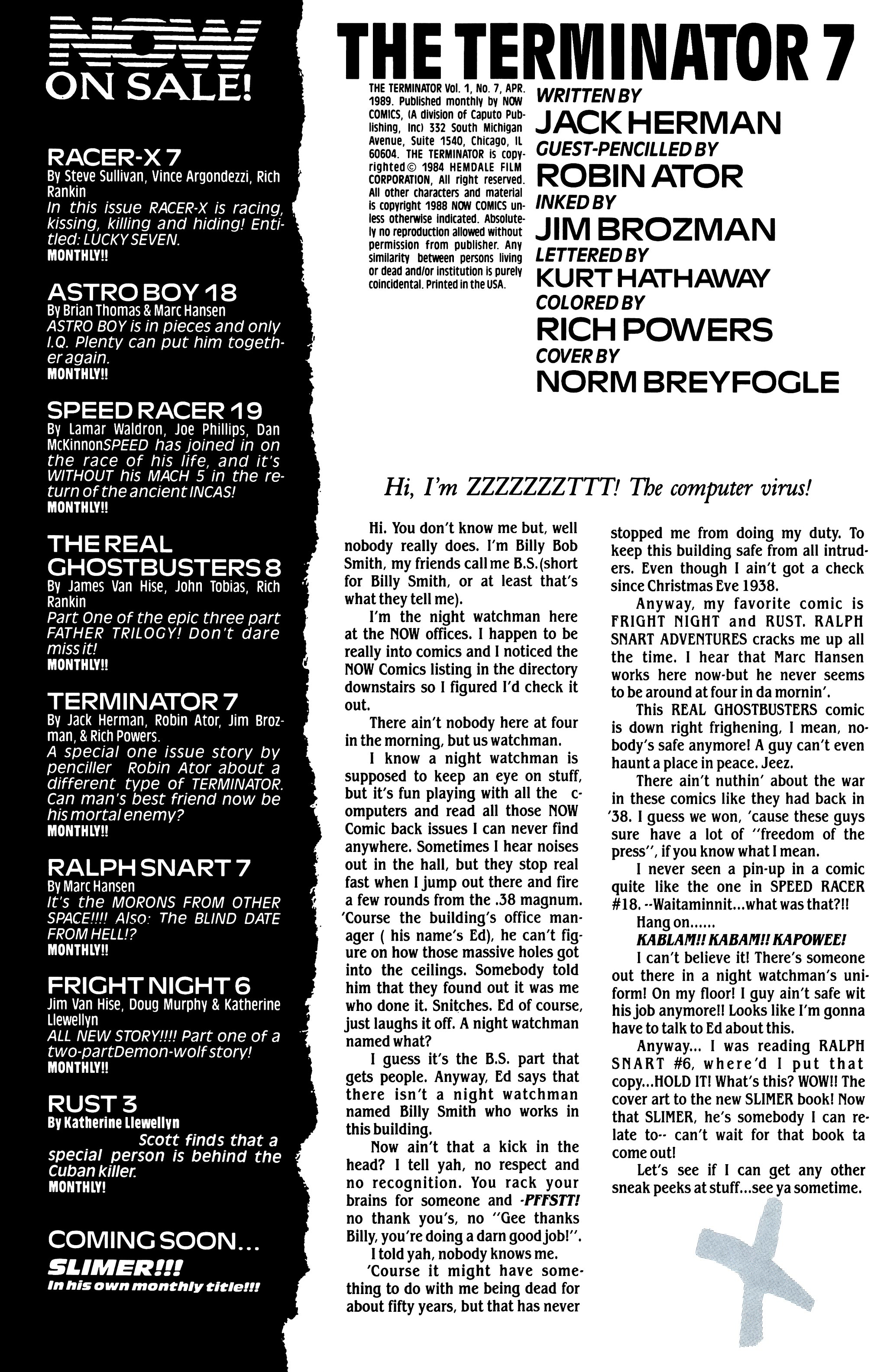 The Terminator (1988) 7 Page 2