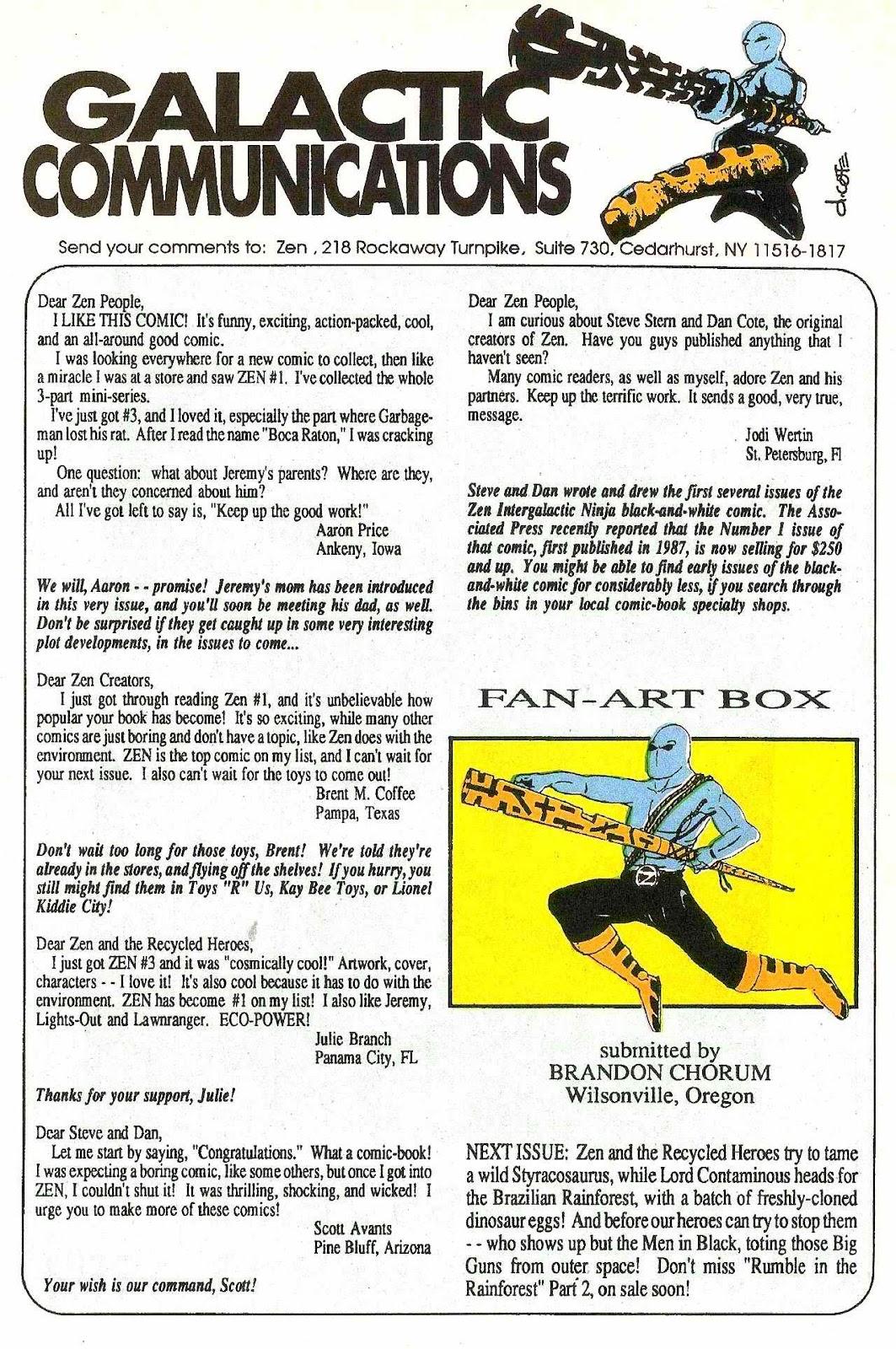 Read online Zen Intergalactic Ninja (1992) comic -  Issue #2 - 27