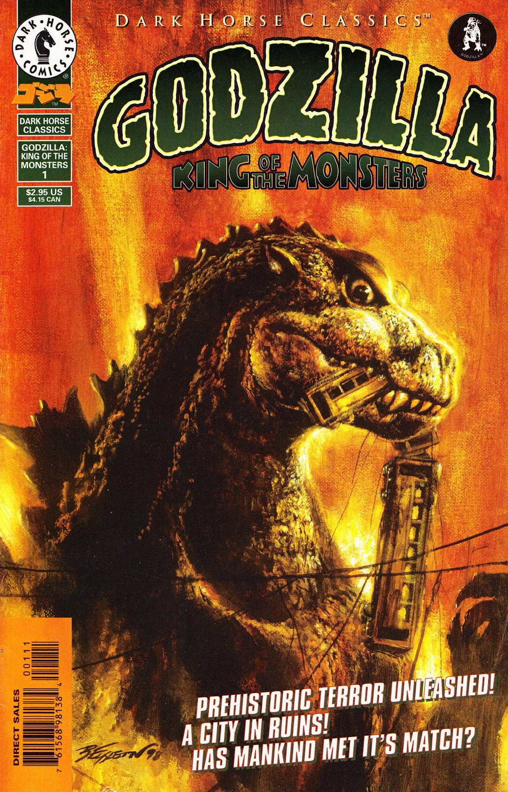 Dark Horse Classics: Godzilla - King of the Monsters issue 1 - Page 1
