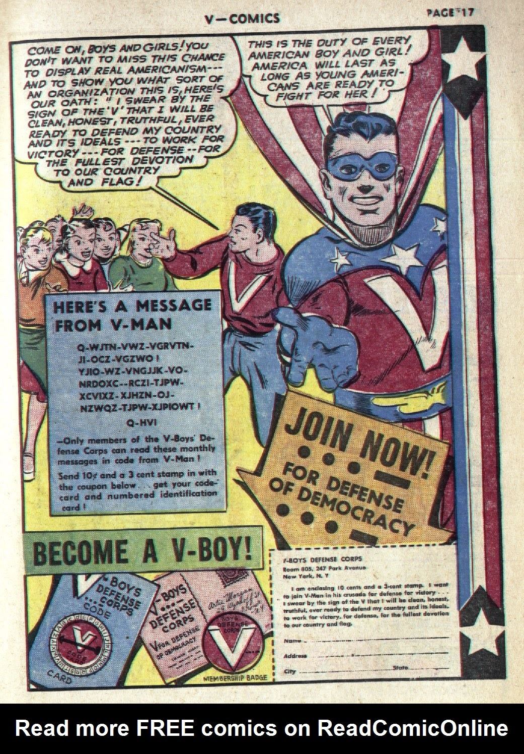 Read online V...- Comics comic -  Issue #1 - 19