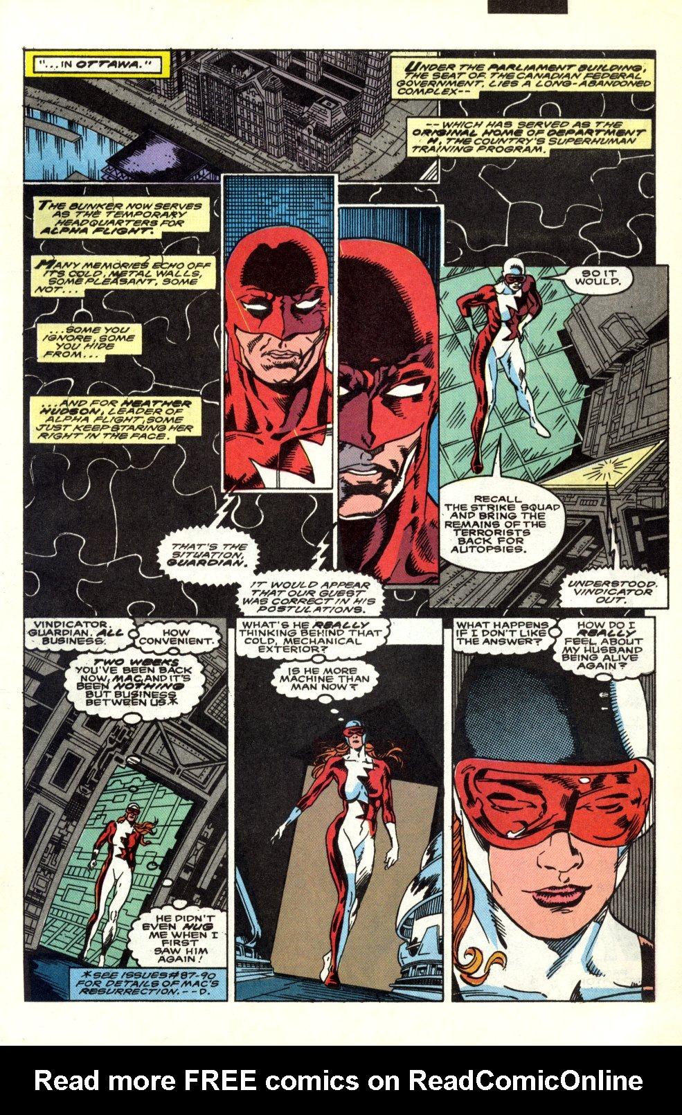 Read online Alpha Flight (1983) comic -  Issue #91 - 7