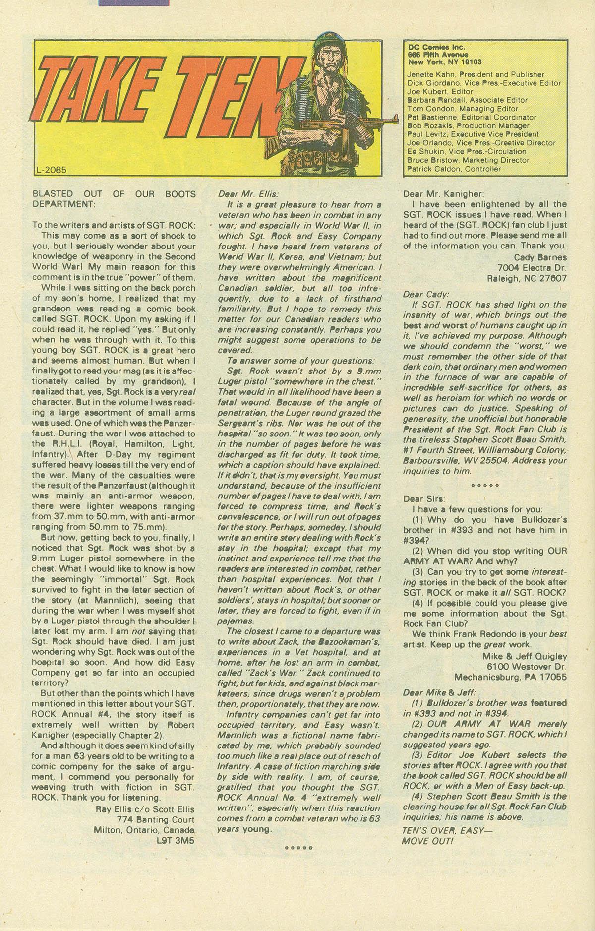 Read online Sgt. Rock comic -  Issue #405 - 31