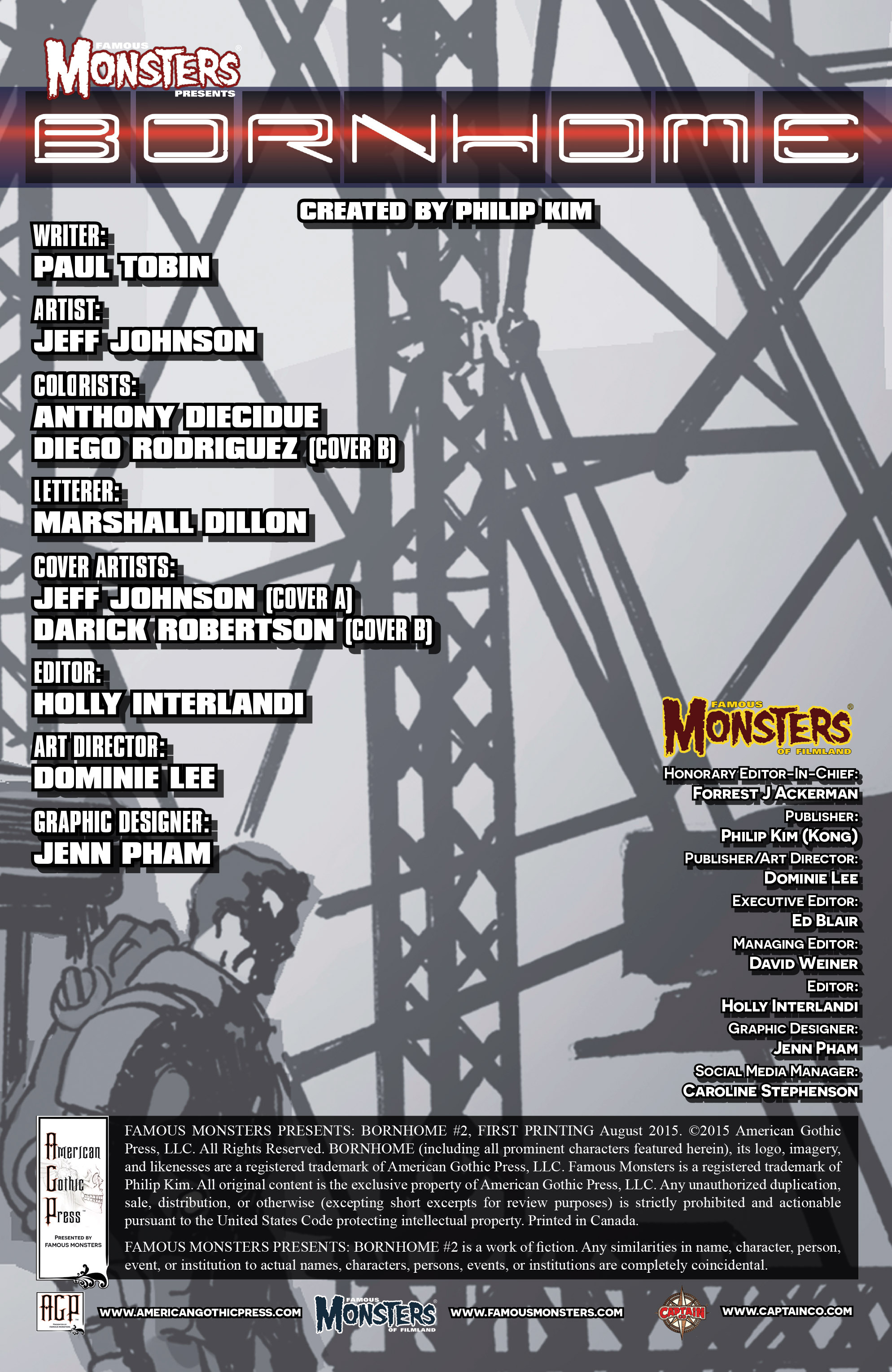 Read online Famous Monsters Presents: Bornhome comic -  Issue #2 - 3