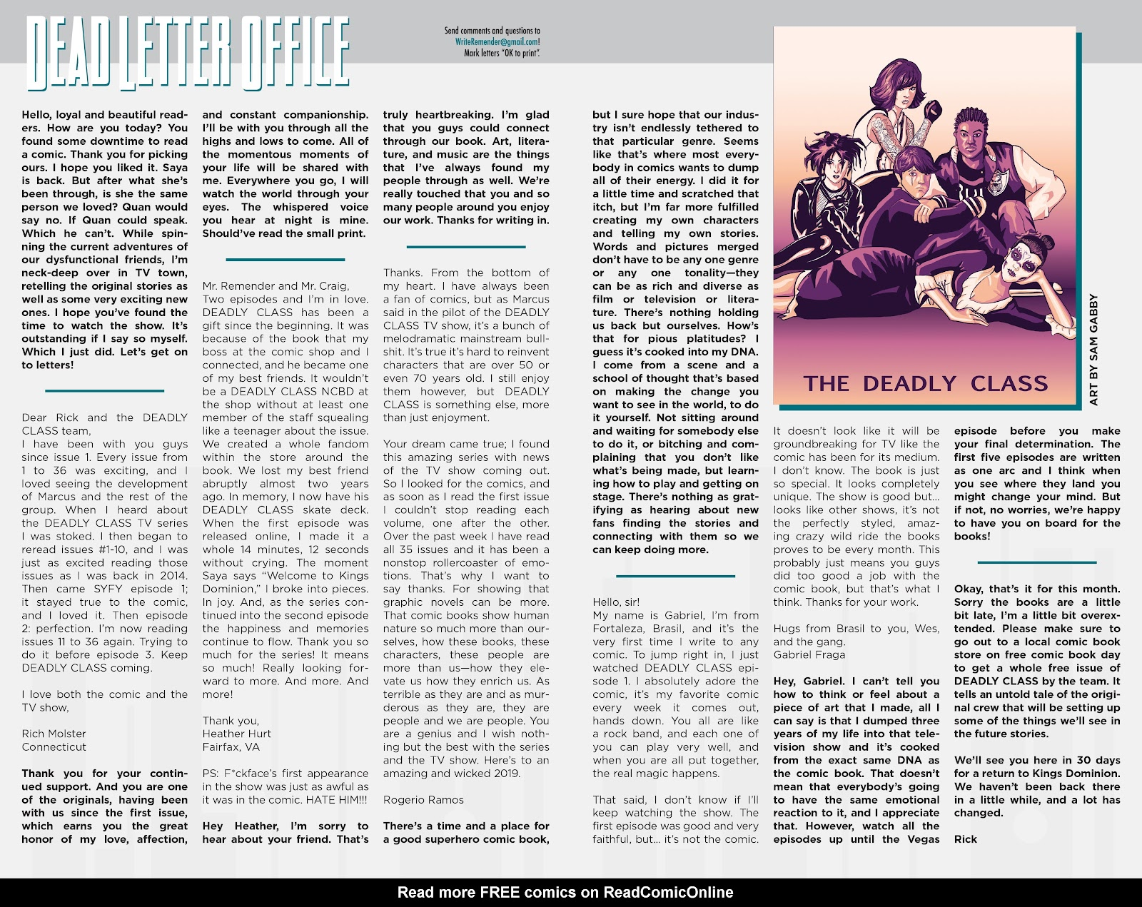 Read online Deadly Class comic -  Issue #37 - 24