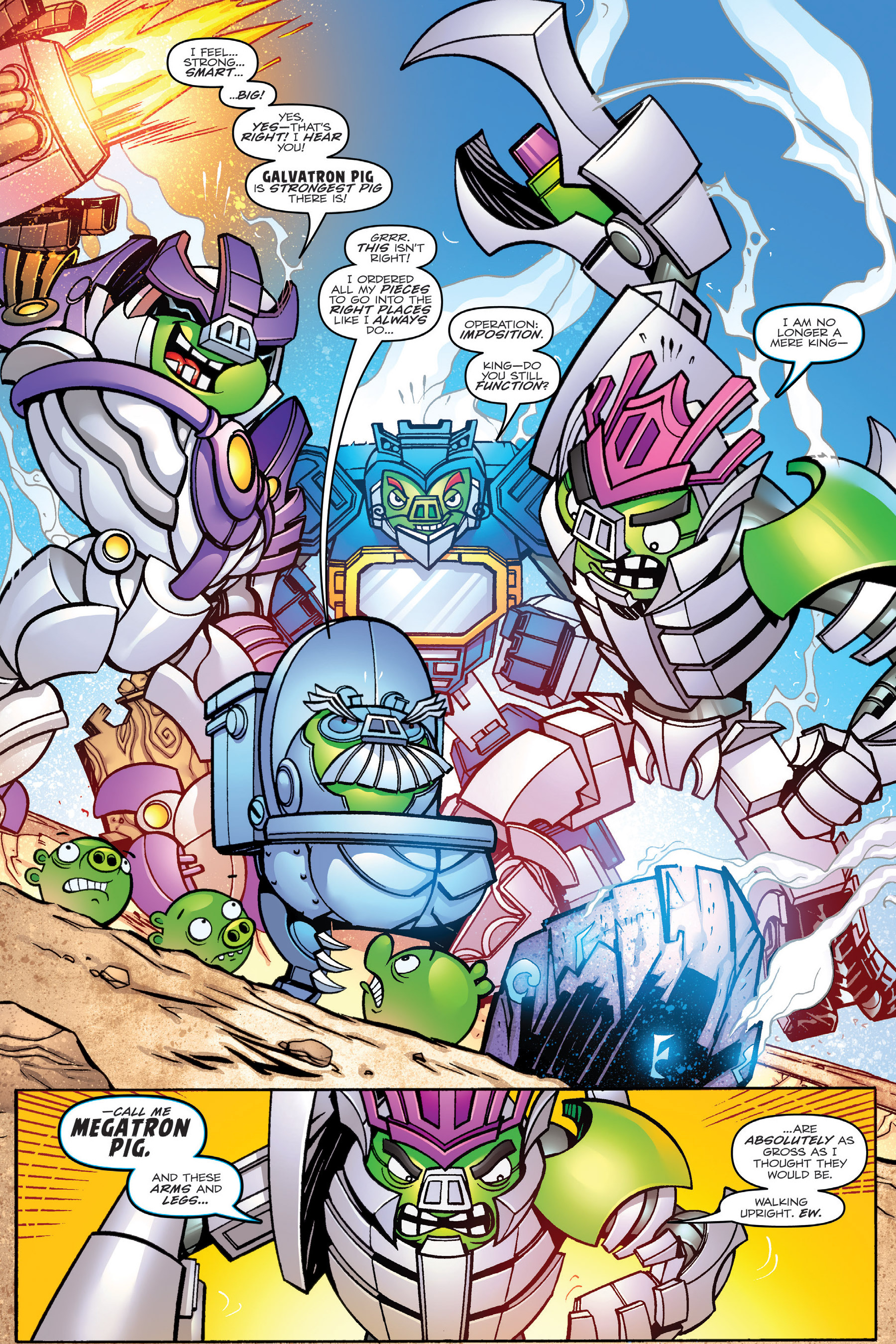Read online Angry Birds Transformers: Age of Eggstinction comic -  Issue # Full - 20
