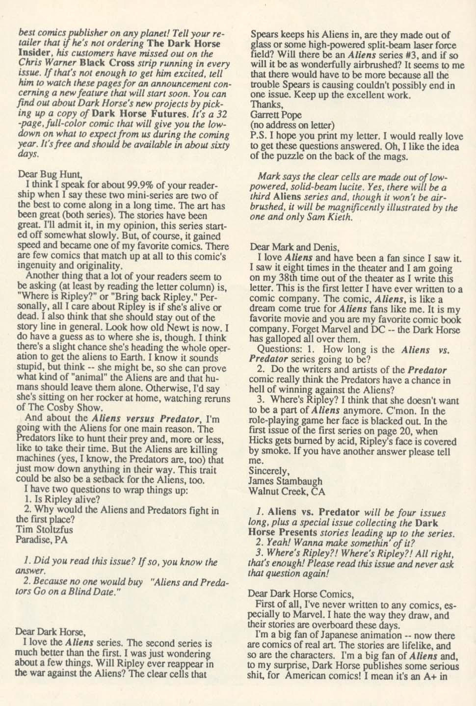 Read online Aliens (1989) comic -  Issue #4 - 28