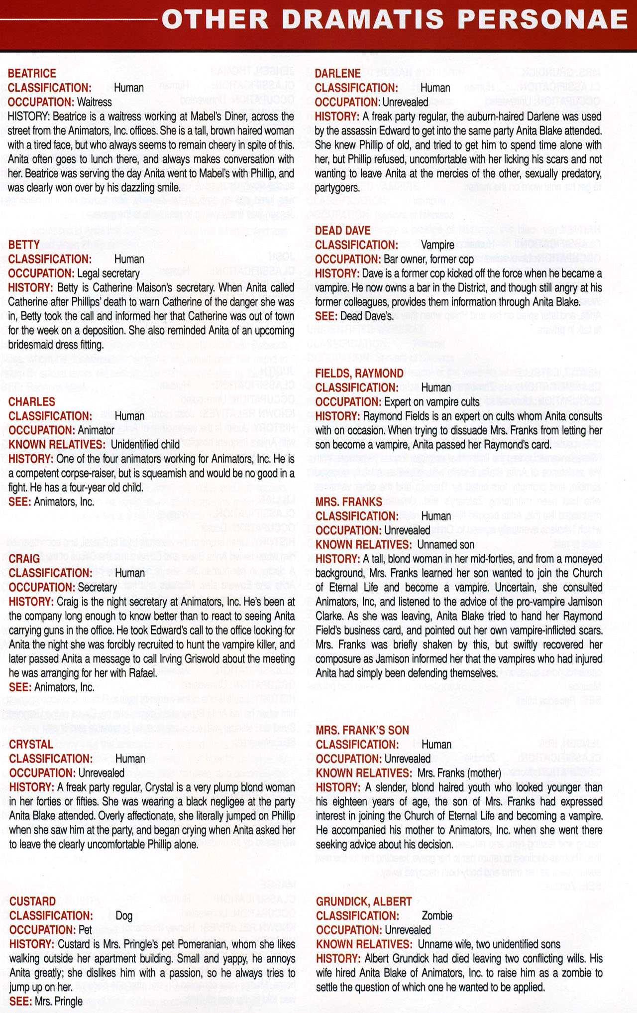 Read online Anita Blake, Vampire Hunter: Guilty Pleasures Handbook comic -  Issue #Anita Blake, Vampire Hunter: Guilty Pleasures Handbook Full - 47