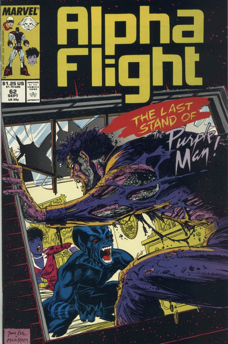 Read online Alpha Flight (1983) comic -  Issue #62 - 1