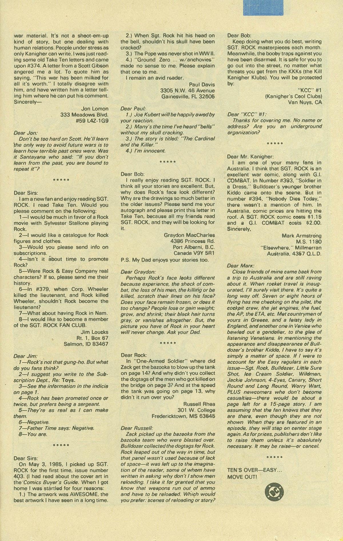 Read online Sgt. Rock comic -  Issue #408 - 24