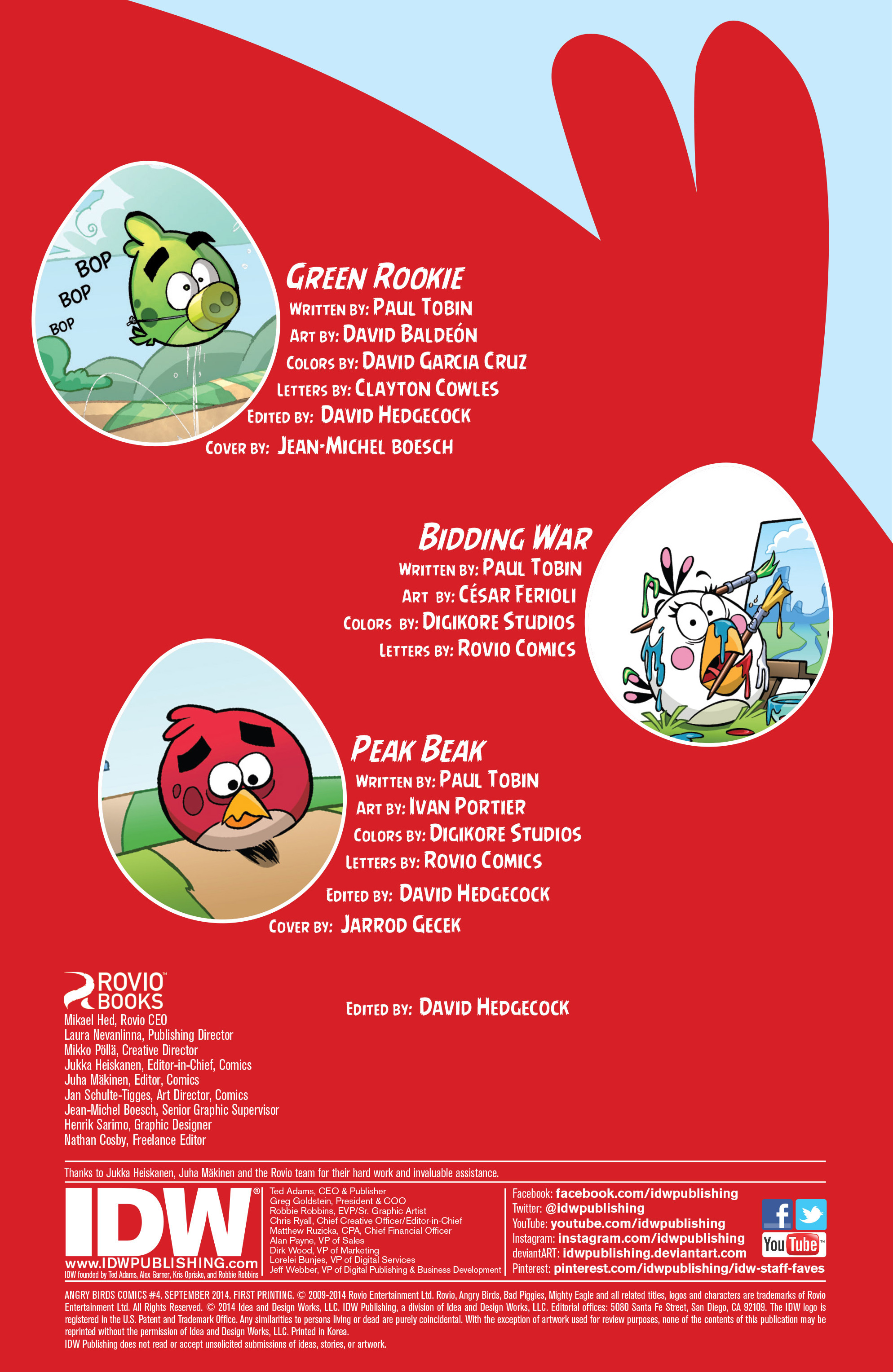 Read online Angry Birds Comics (2014) comic -  Issue #4 - 2