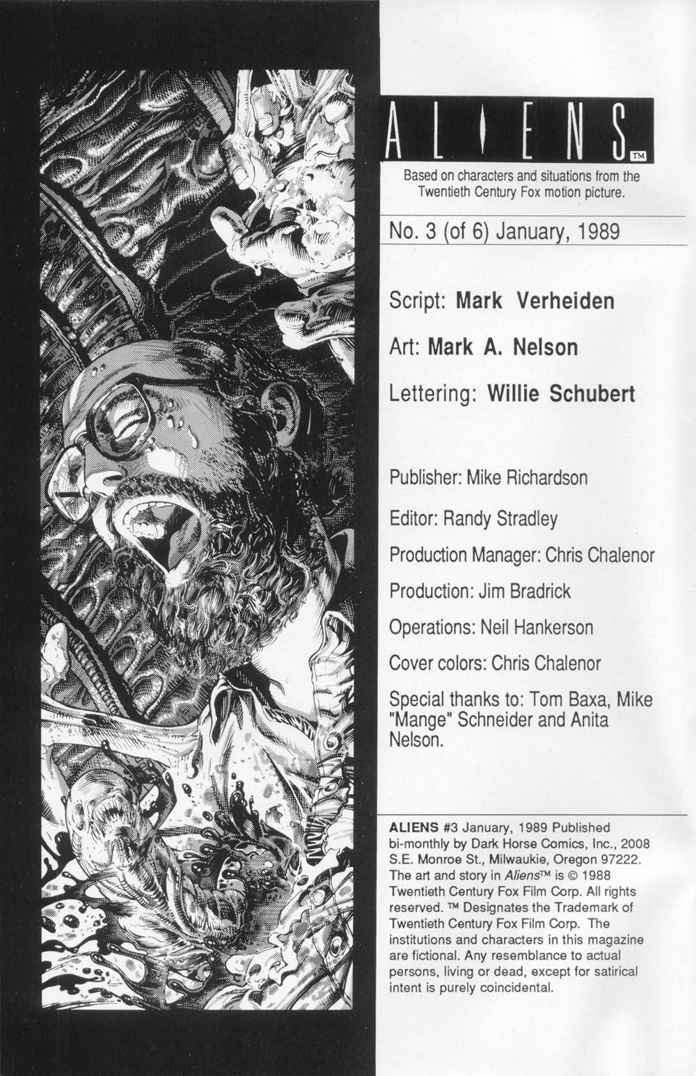 Read online Aliens (1988) comic -  Issue #3 - 2