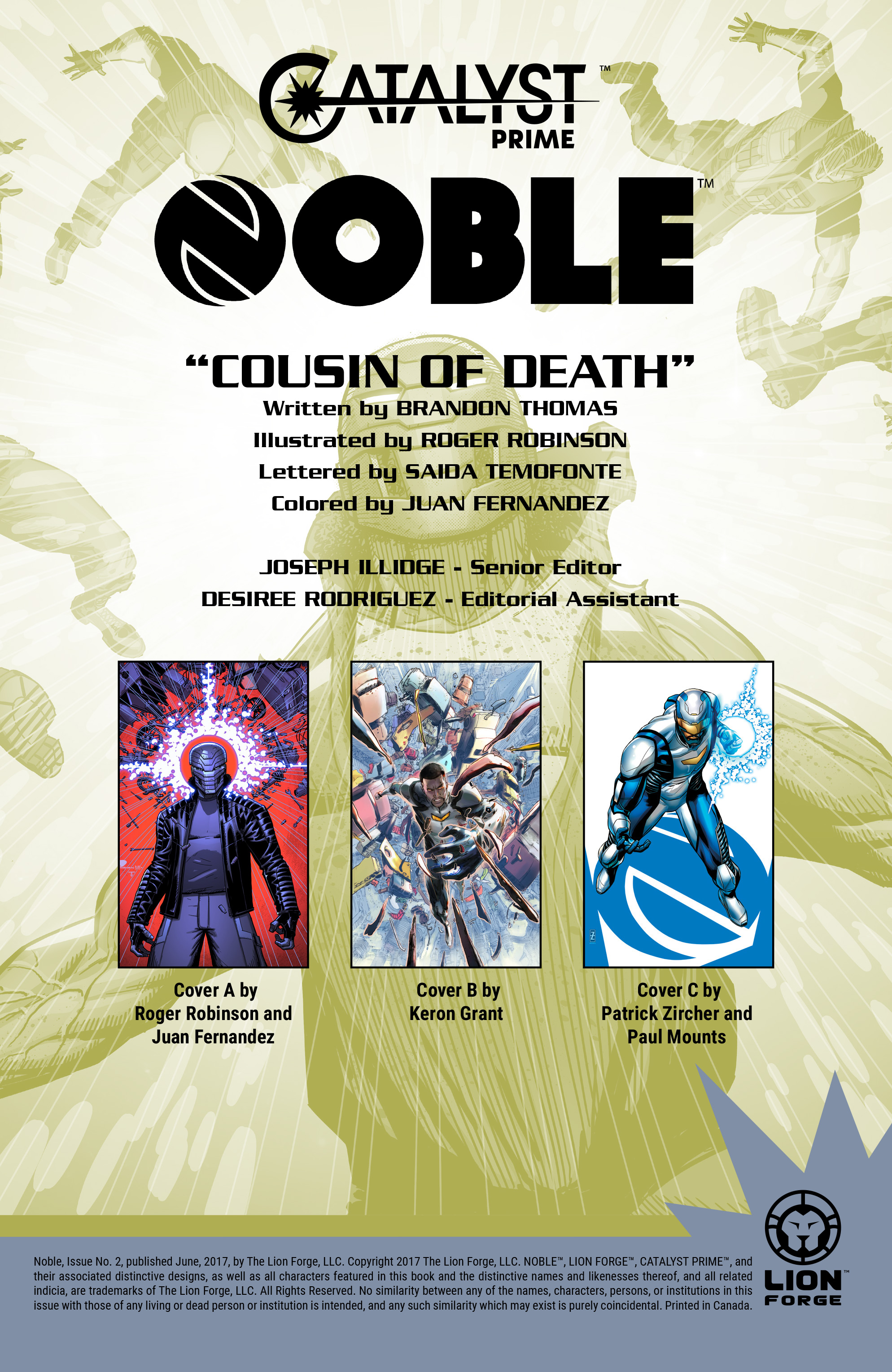 Read online Noble comic -  Issue #2 - 2