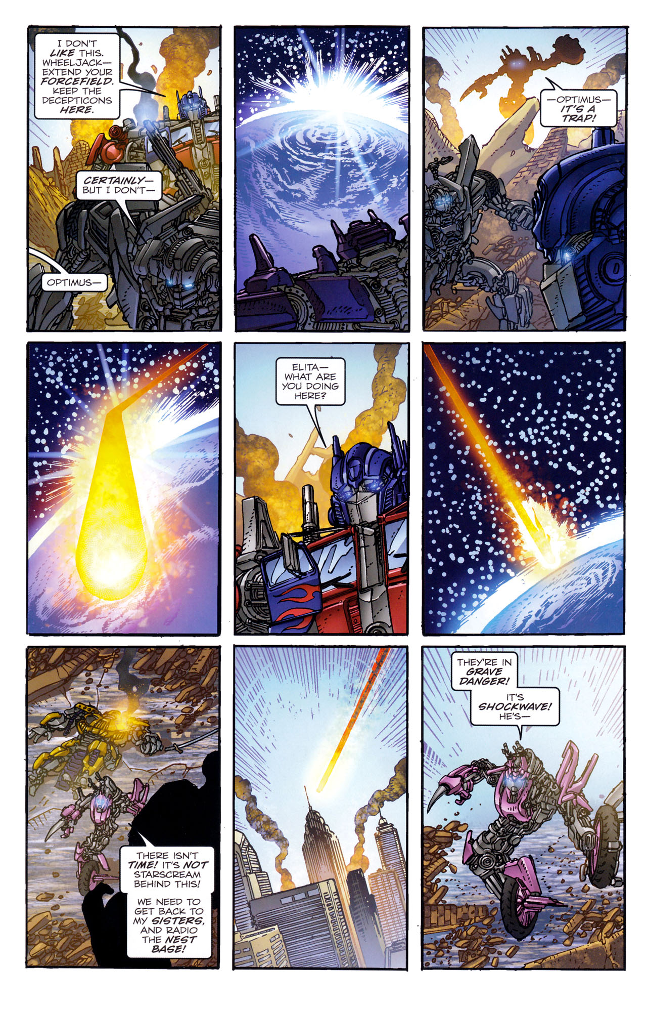Read online Transformers: Dark of the Moon Rising Storm comic -  Issue #4 - 12