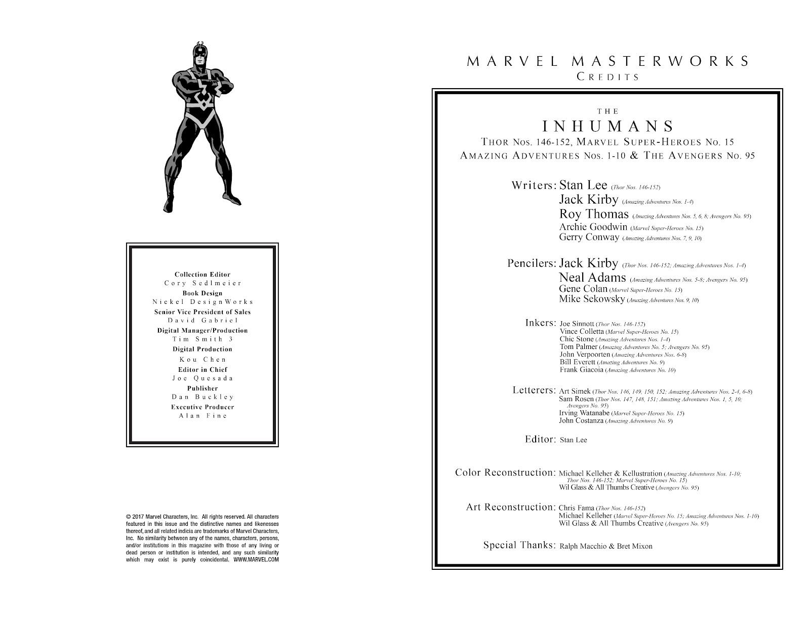 Read online Marvel Masterworks: The Inhumans comic -  Issue # TPB 1 (Part 1) - 3
