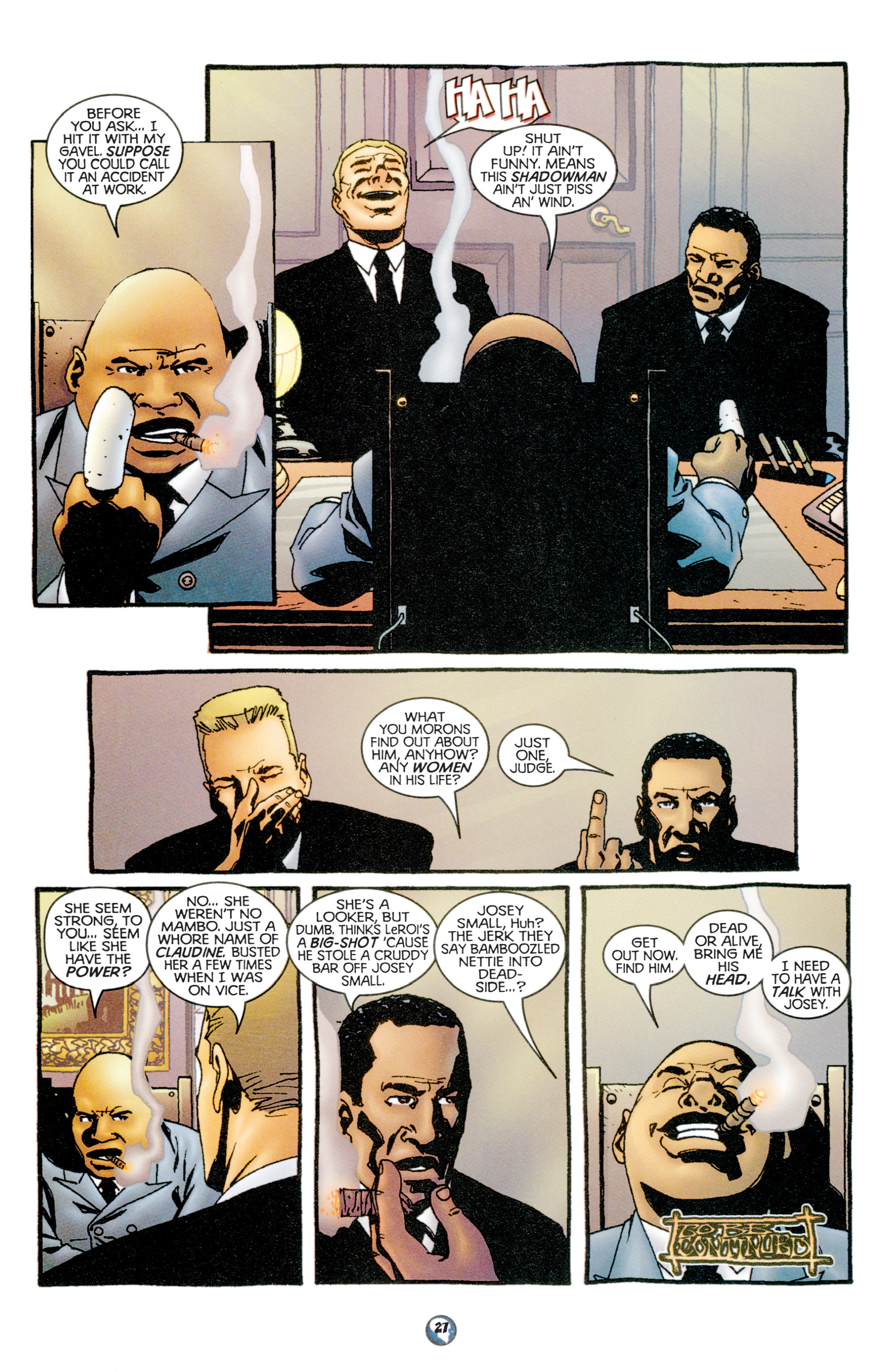Read online Shadowman (1997) comic -  Issue #11 - 22