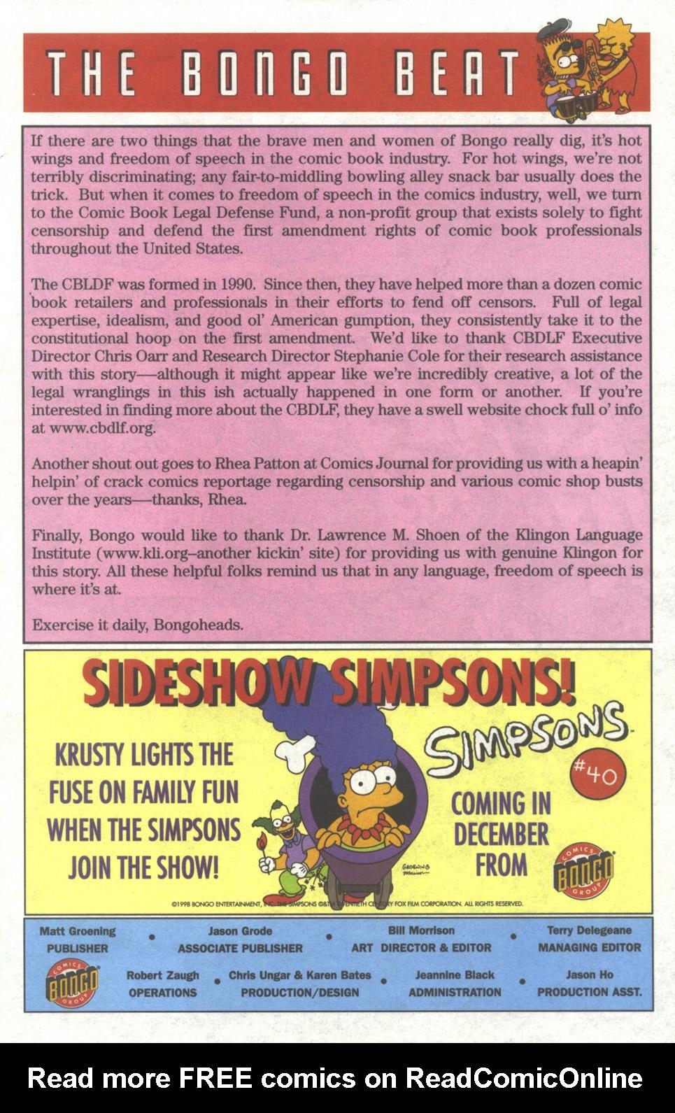 Read online Simpsons Comics comic -  Issue #39 - 24