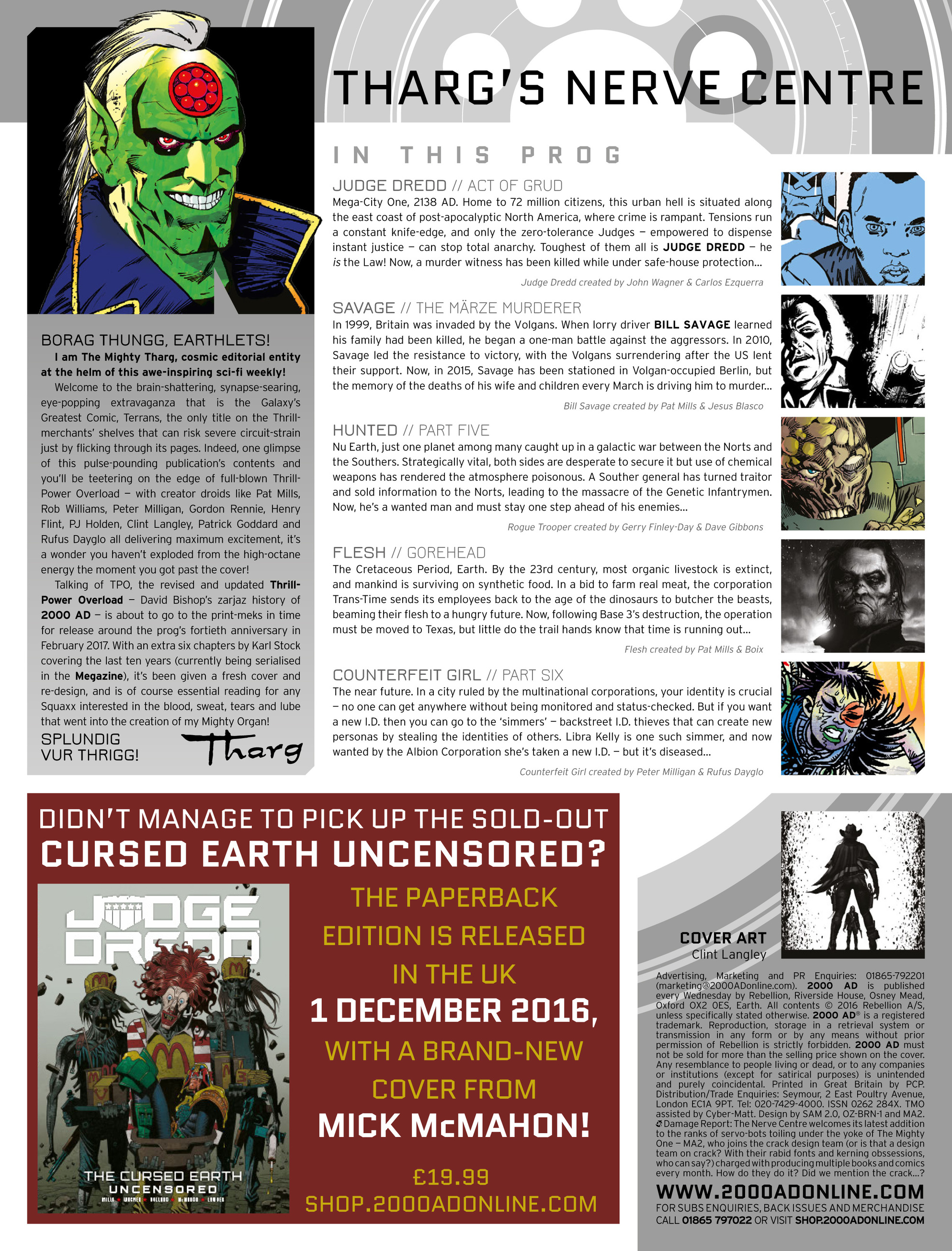 Read online 2000 AD comic -  Issue #2005 - 2