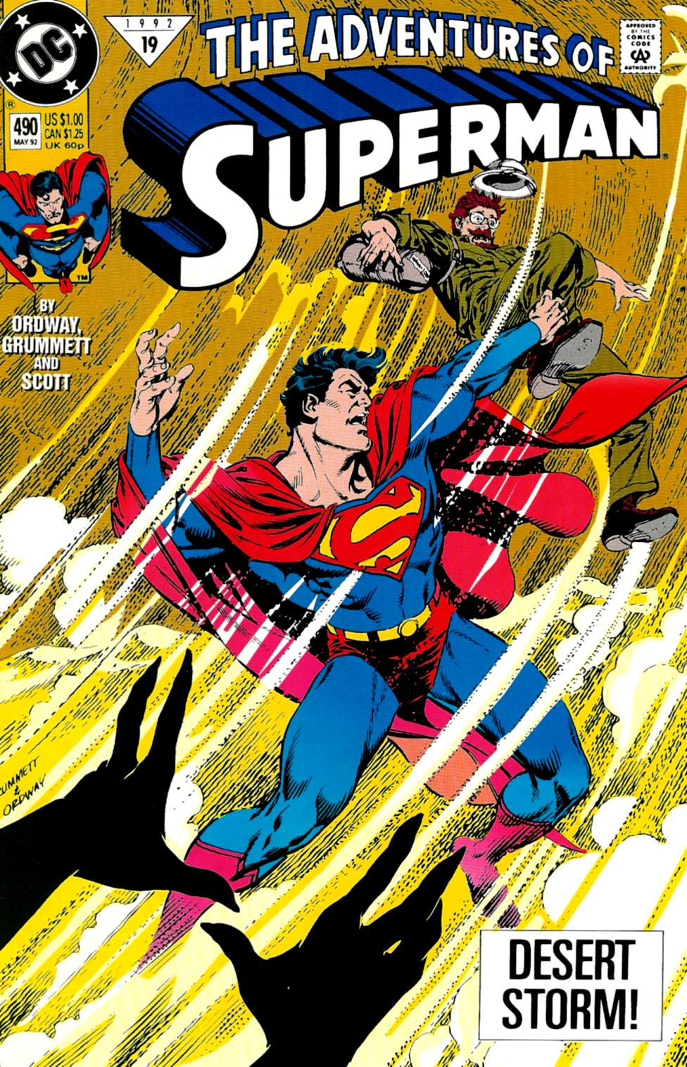 Read online Adventures of Superman (1987) comic -  Issue #490 - 1