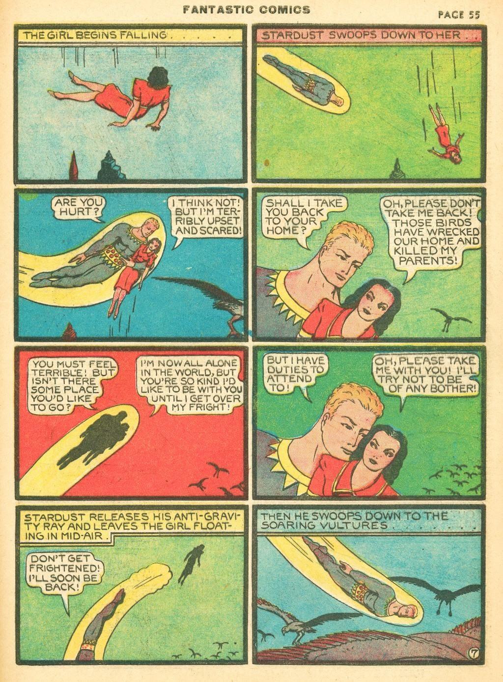 Read online Fantastic Comics comic -  Issue #12 - 57