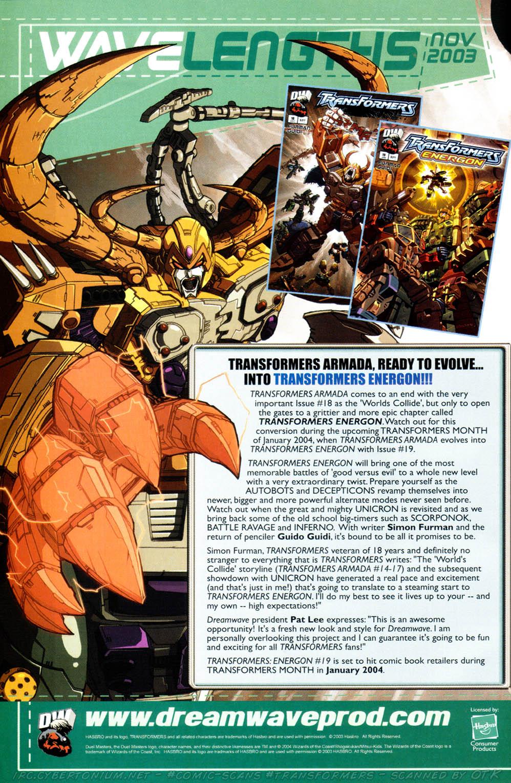 Read online Transformers Armada comic -  Issue #17 - 26