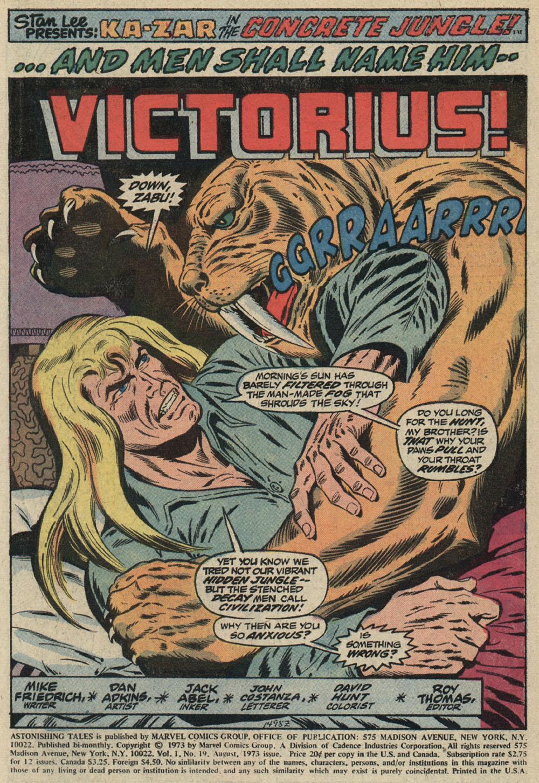 Read online Astonishing Tales (1970) comic -  Issue #19 - 2