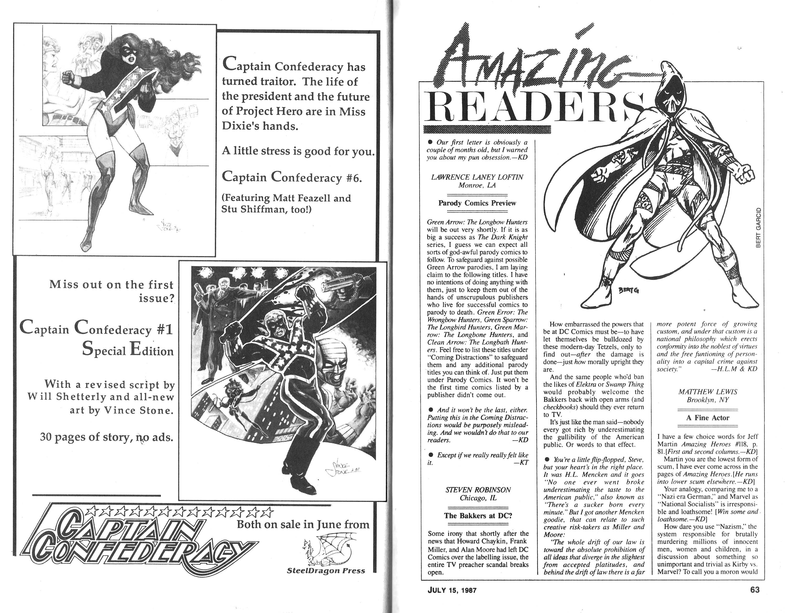 Read online Amazing Heroes comic -  Issue #121 - 32