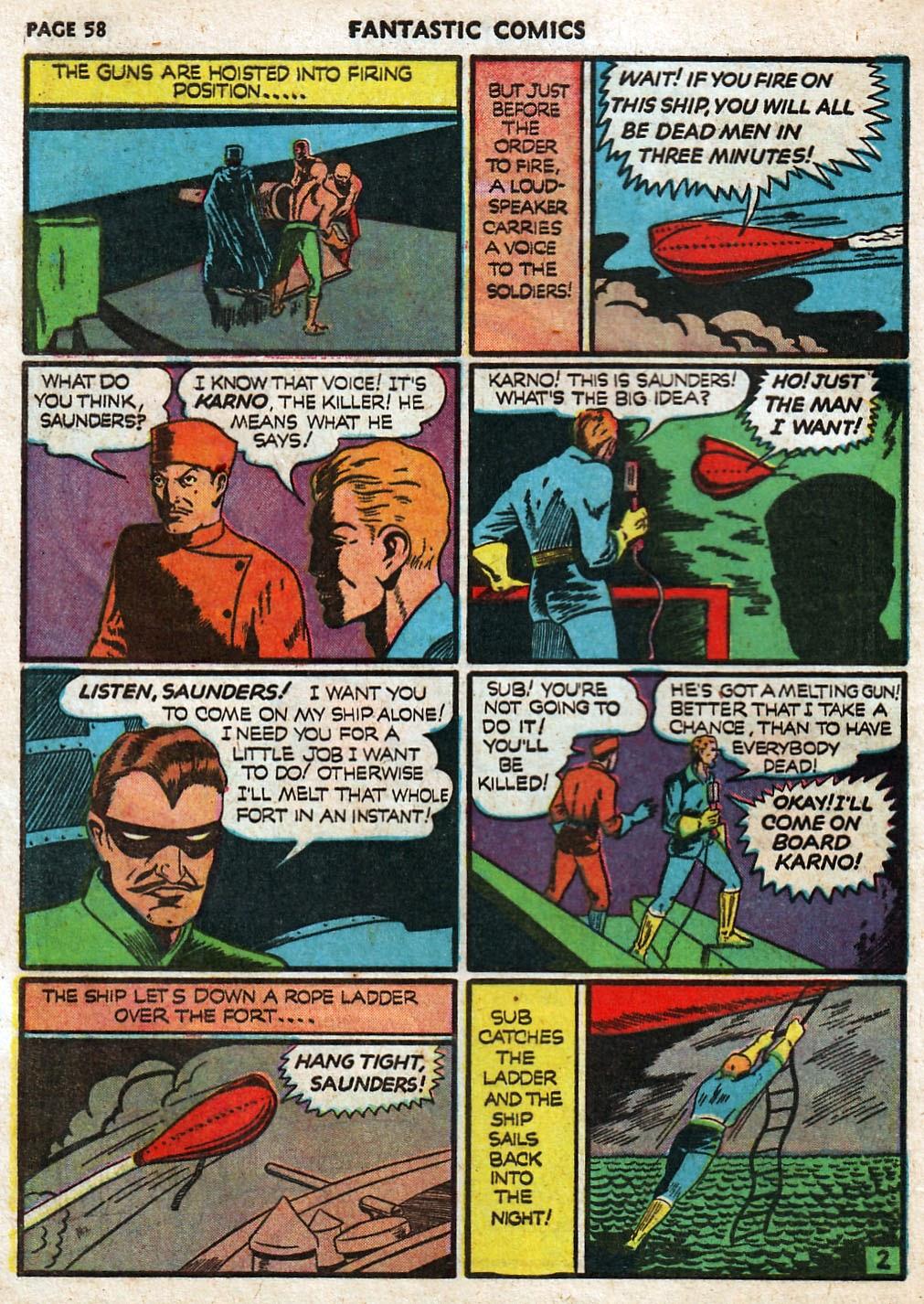 Read online Fantastic Comics comic -  Issue #17 - 59