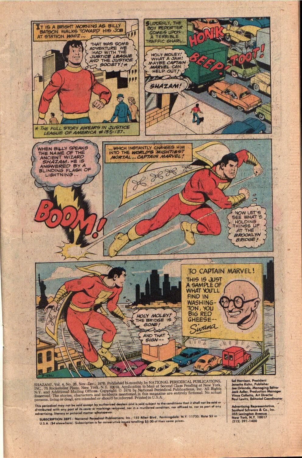 Read online Shazam! (1973) comic -  Issue #26 - 3