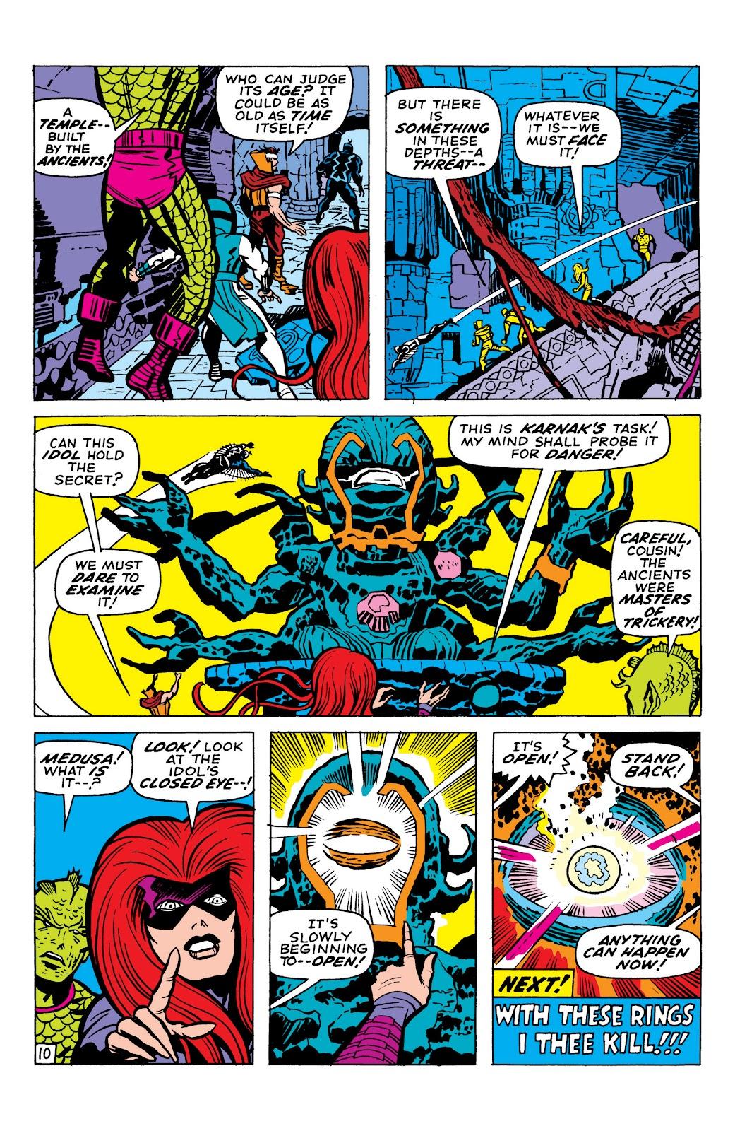 Read online Marvel Masterworks: The Inhumans comic -  Issue # TPB 1 (Part 2) - 1