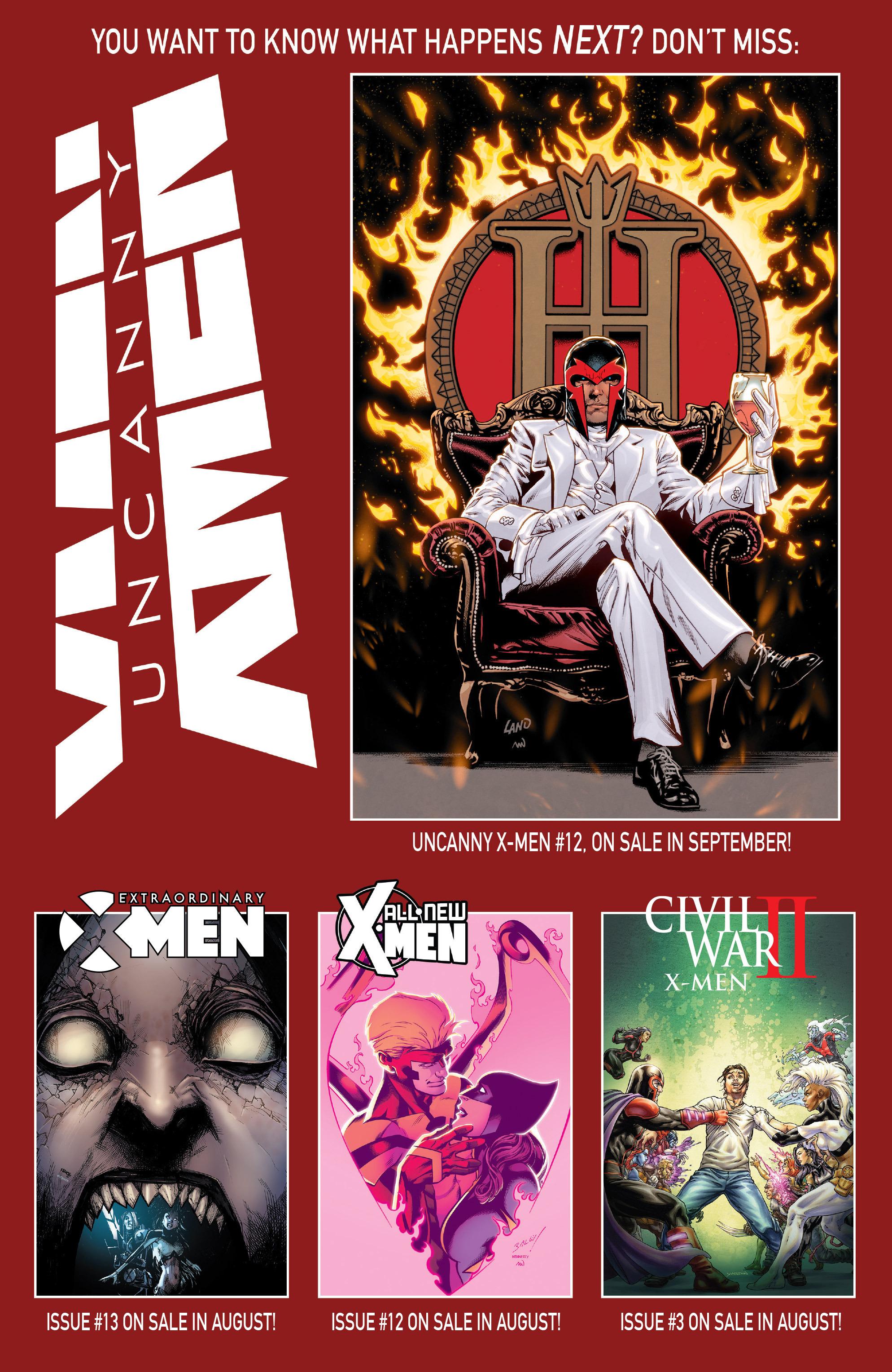 Read online Uncanny X-Men (2016) comic -  Issue #11 - 22