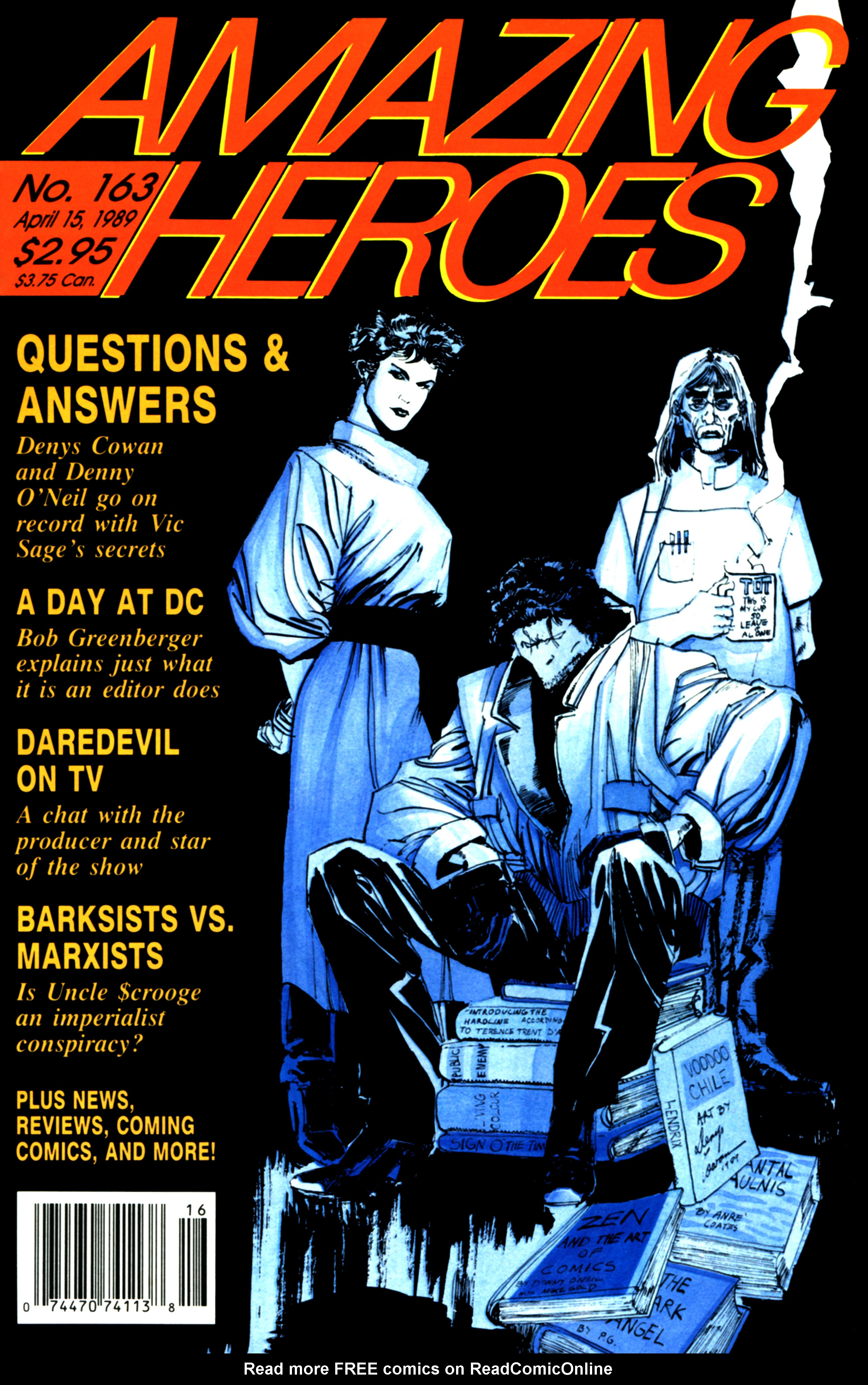 Read online Amazing Heroes comic -  Issue #163 - 1