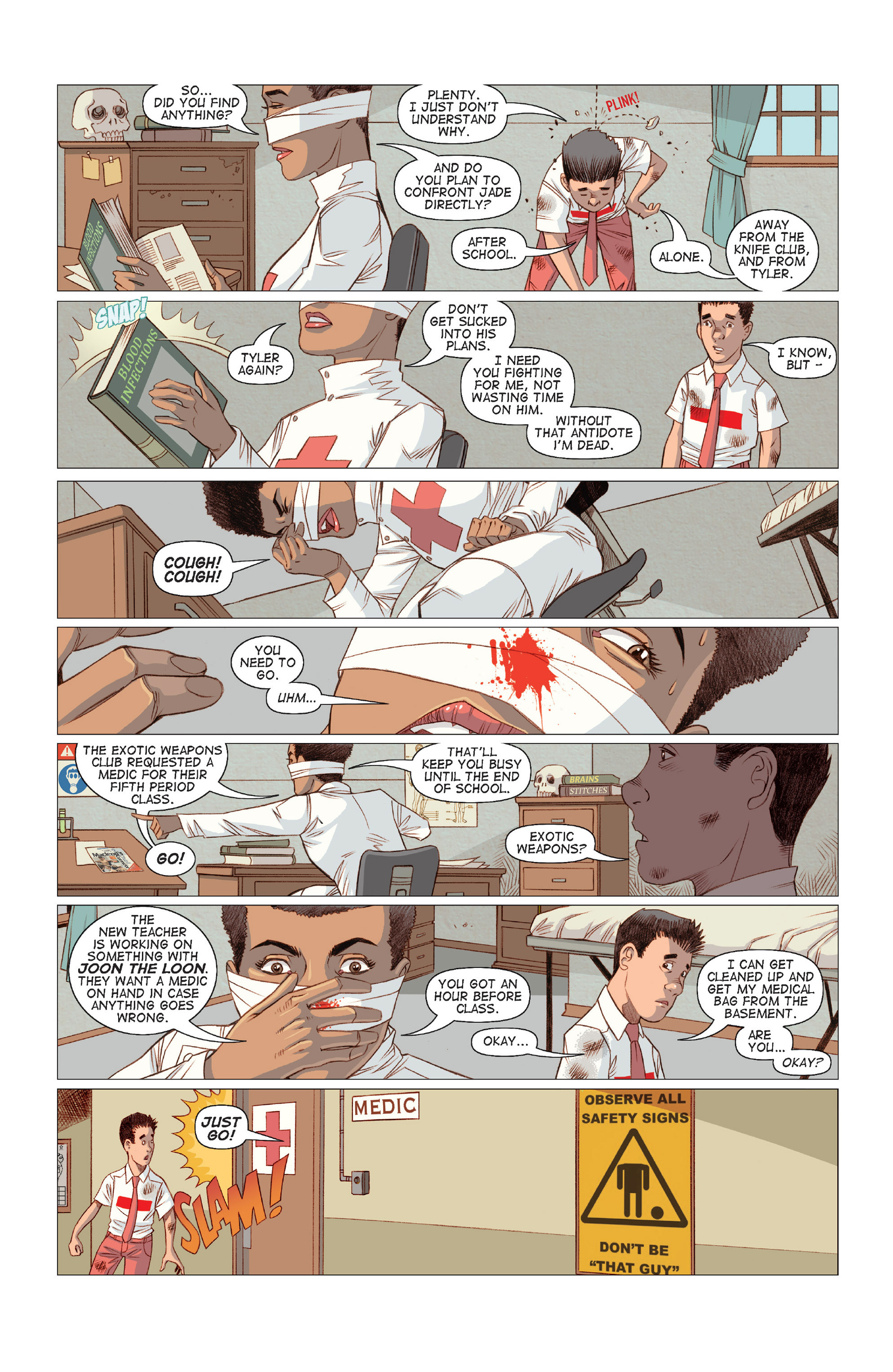 Read online Five Weapons comic -  Issue #8 - 18