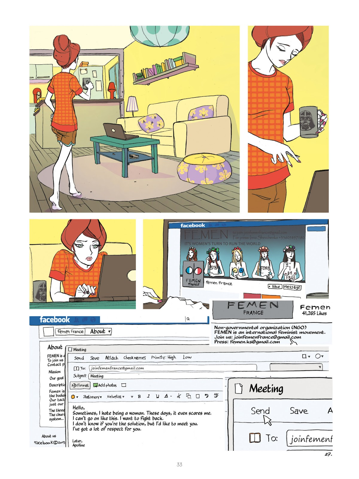 Read online Diary of A Femen comic -  Issue # TPB - 35
