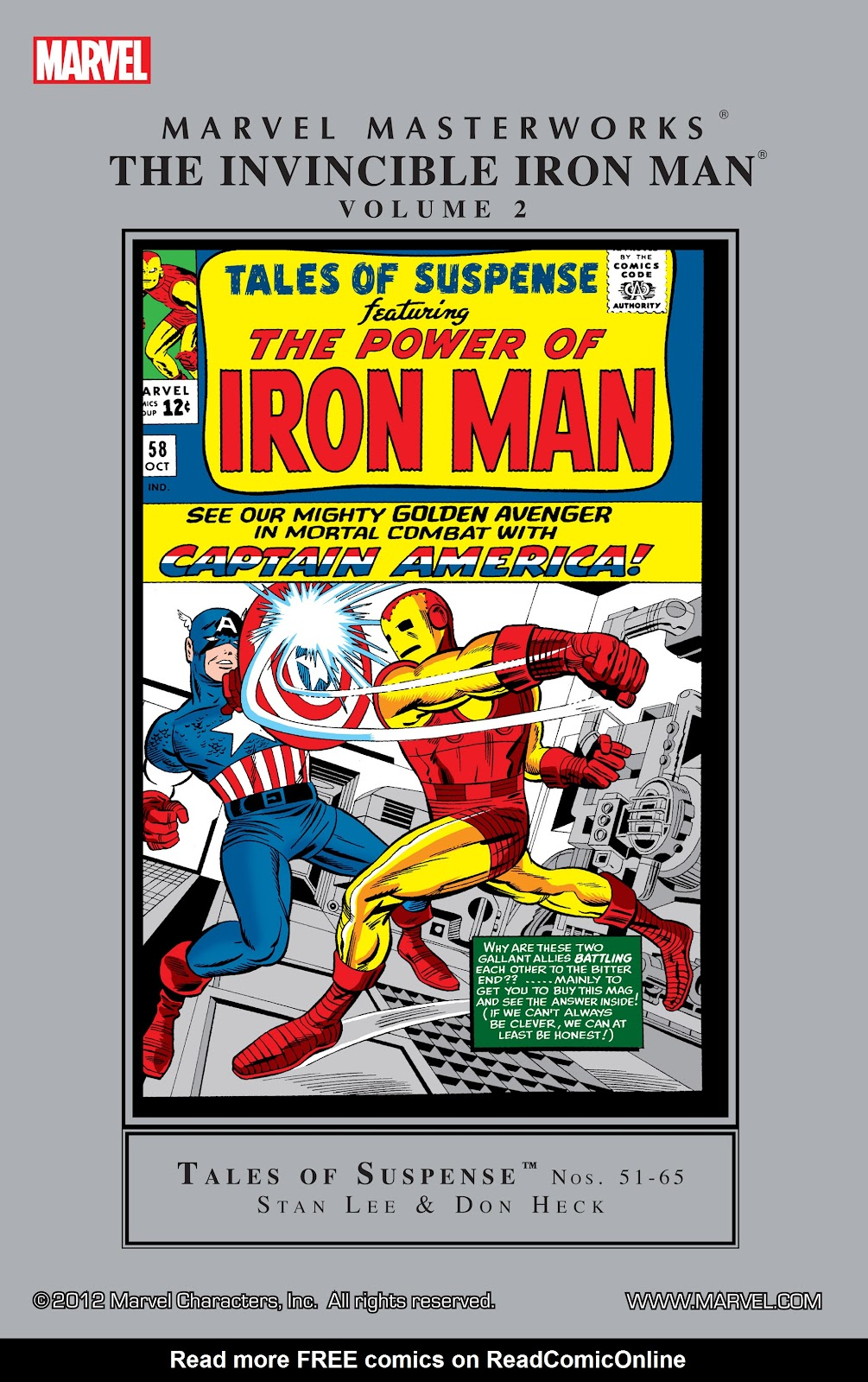 Read online Marvel Masterworks: The Invincible Iron Man comic -  Issue # TPB 2 (Part 1) - 1